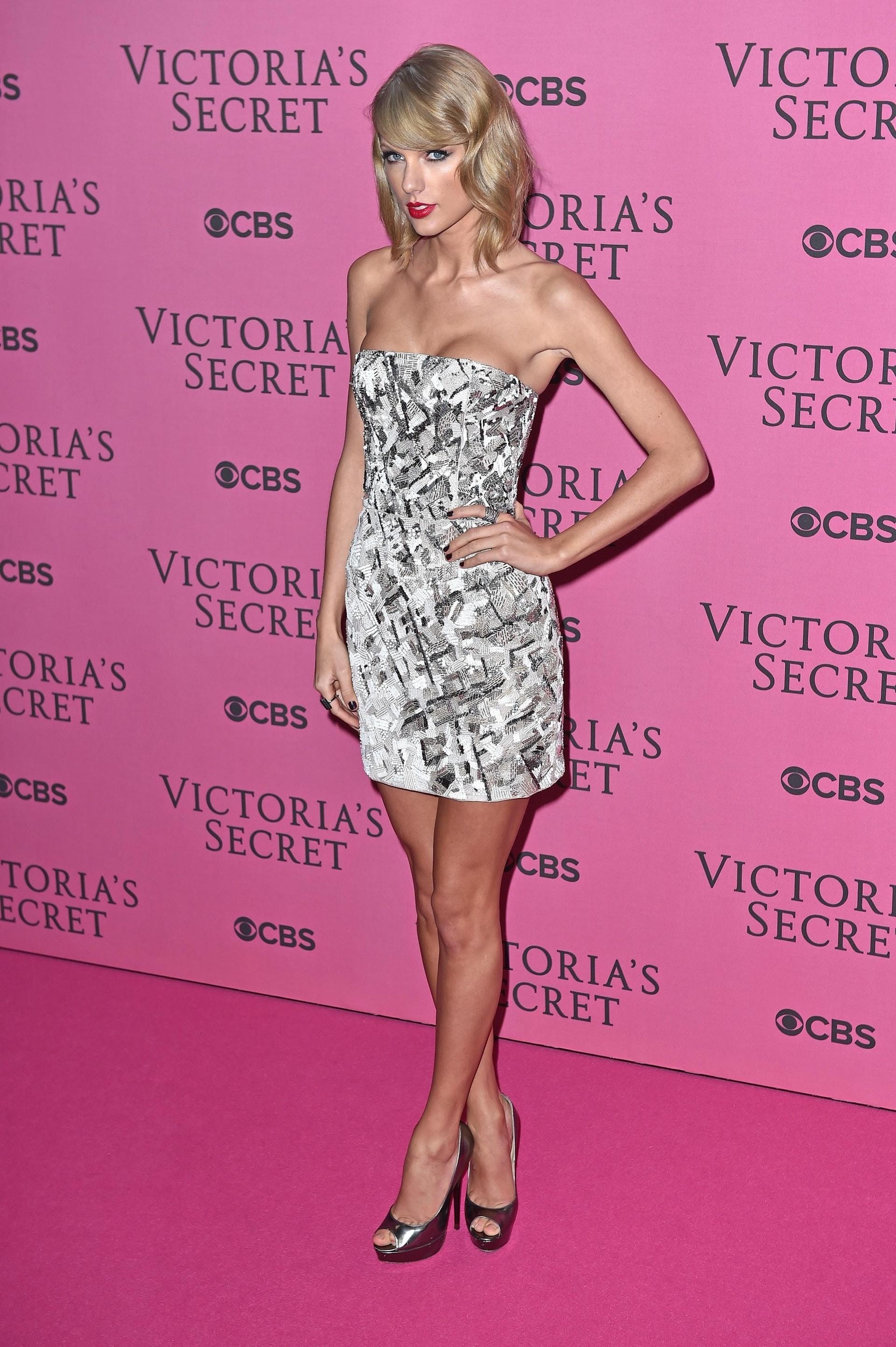 身高178cm的Taylor Swift擁有超級模特兒一樣的好身材。(Getty Images)