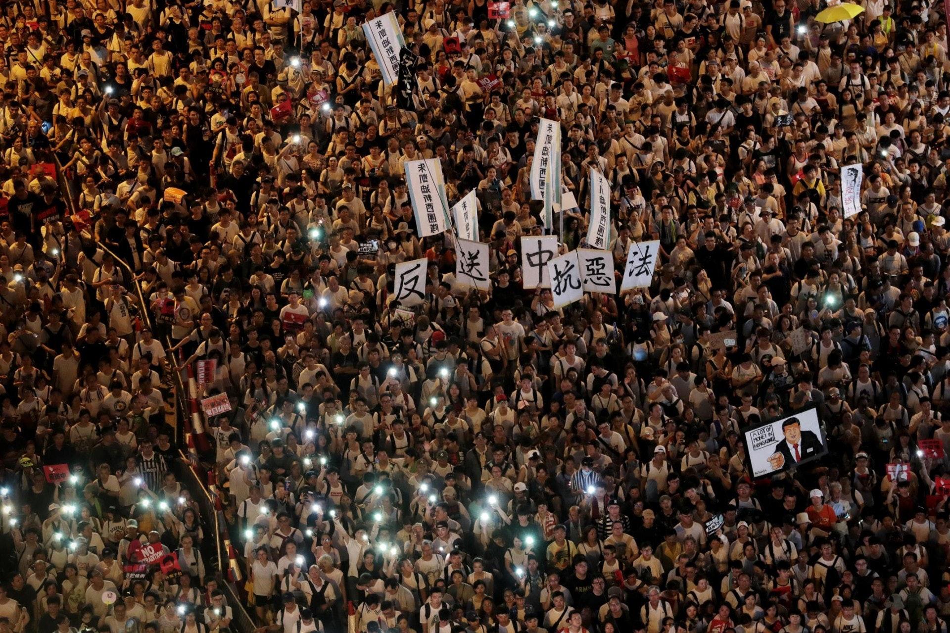 反《逃犯條例》修訂觸發兩次百萬人遊行。(資料圖片/李澤彤攝)