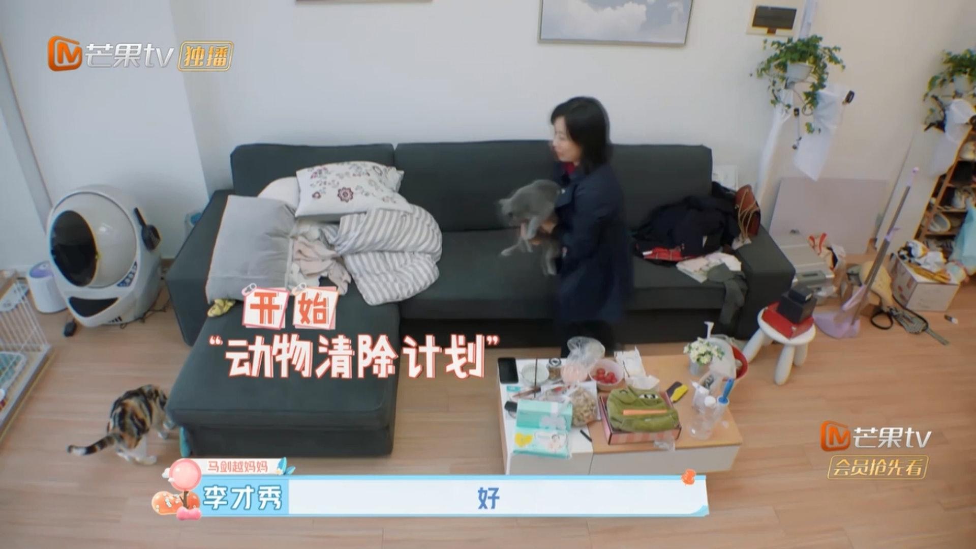 馬劍越媽媽話要送走女兒的寵物,將來生育後寵物也不能回家。(Youtube影片截圖)