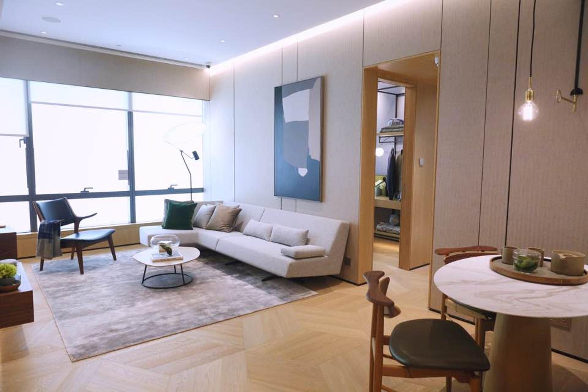 連裝修示位參考7A座7樓D室搭建,屬兩房連一套房間隔,實用面積781方呎。(歐嘉樂攝)