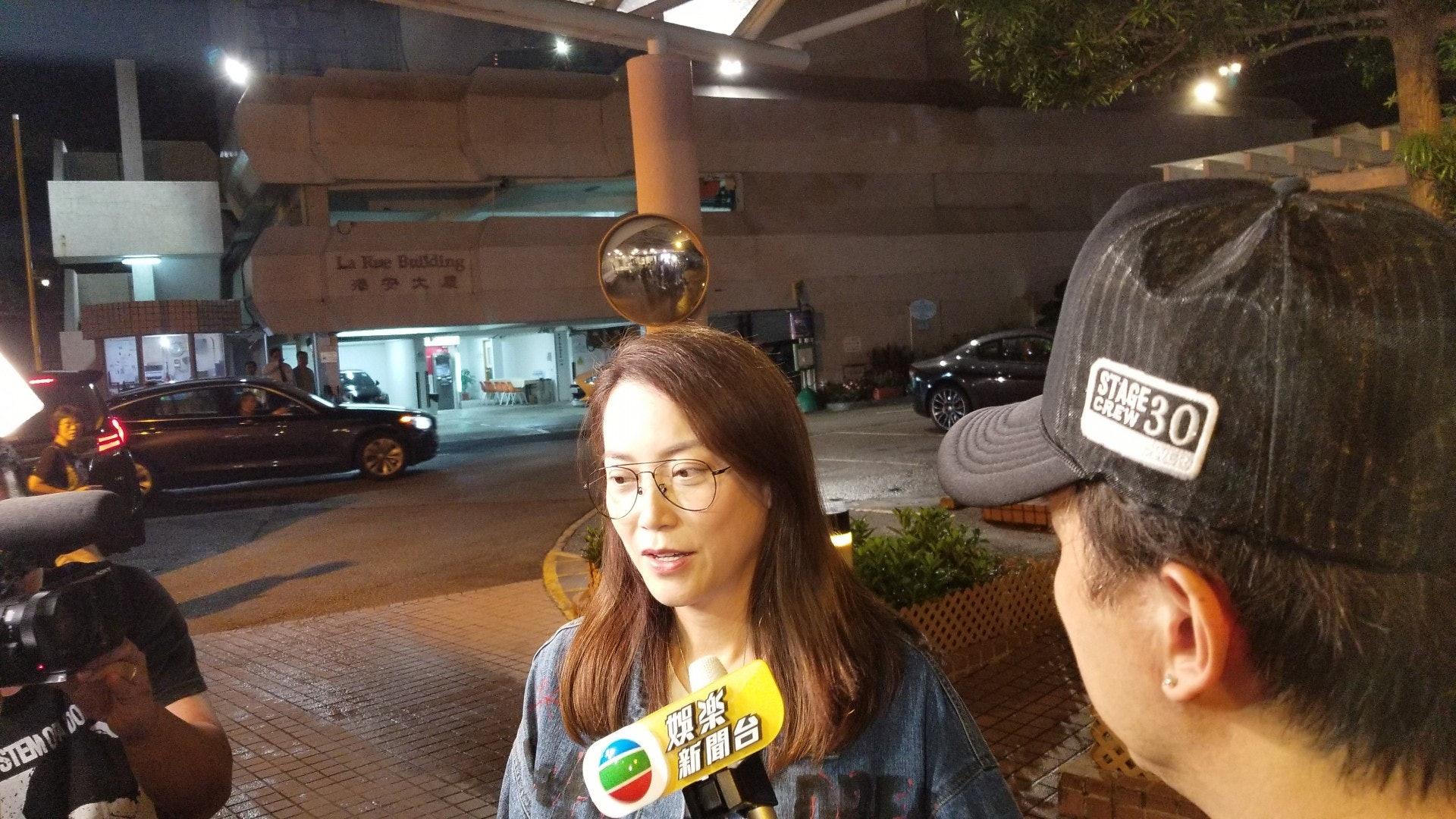 華哥經理人霍汶希表示,華哥手術後情況穩定。(王譯揚攝)