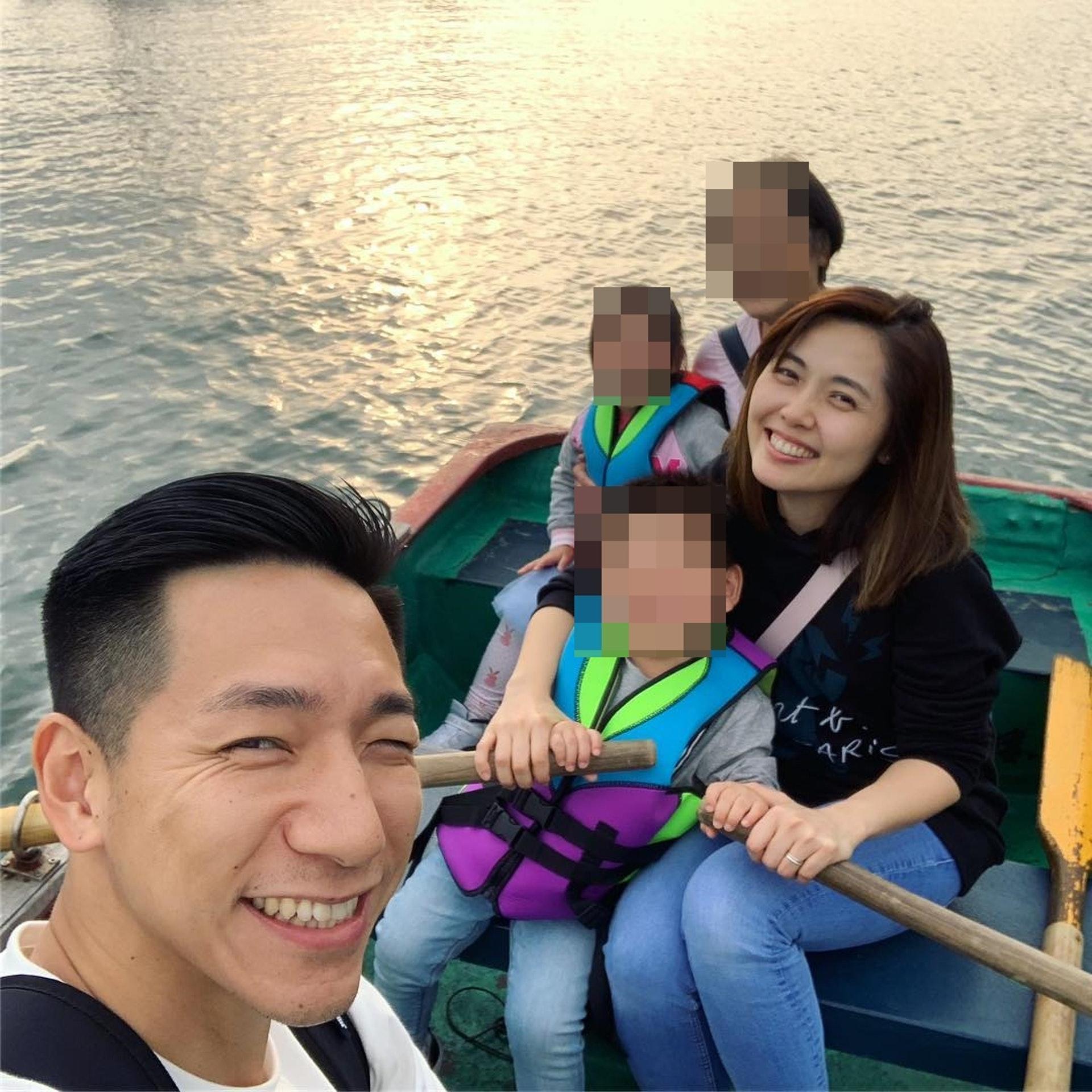 柳俊江與太太育有一子一女。(Florence IG圖片)