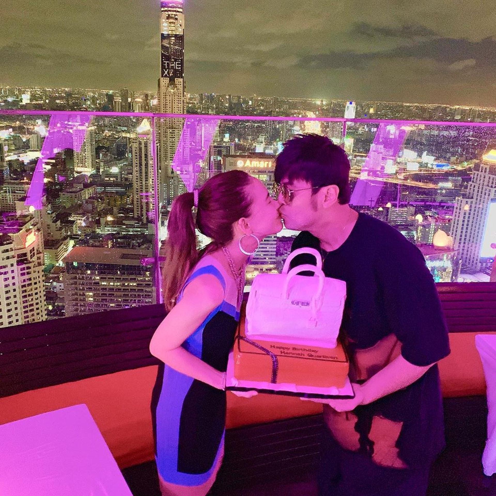 8月12日是昆凌26歲生日,周杰倫在泰國為老婆慶生。(IG@hannah_quinlivan)