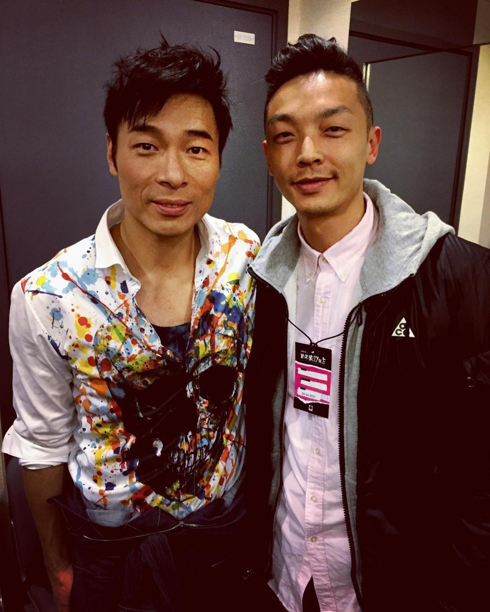 Gavin與許志安合照。(Instagram:@gso)
