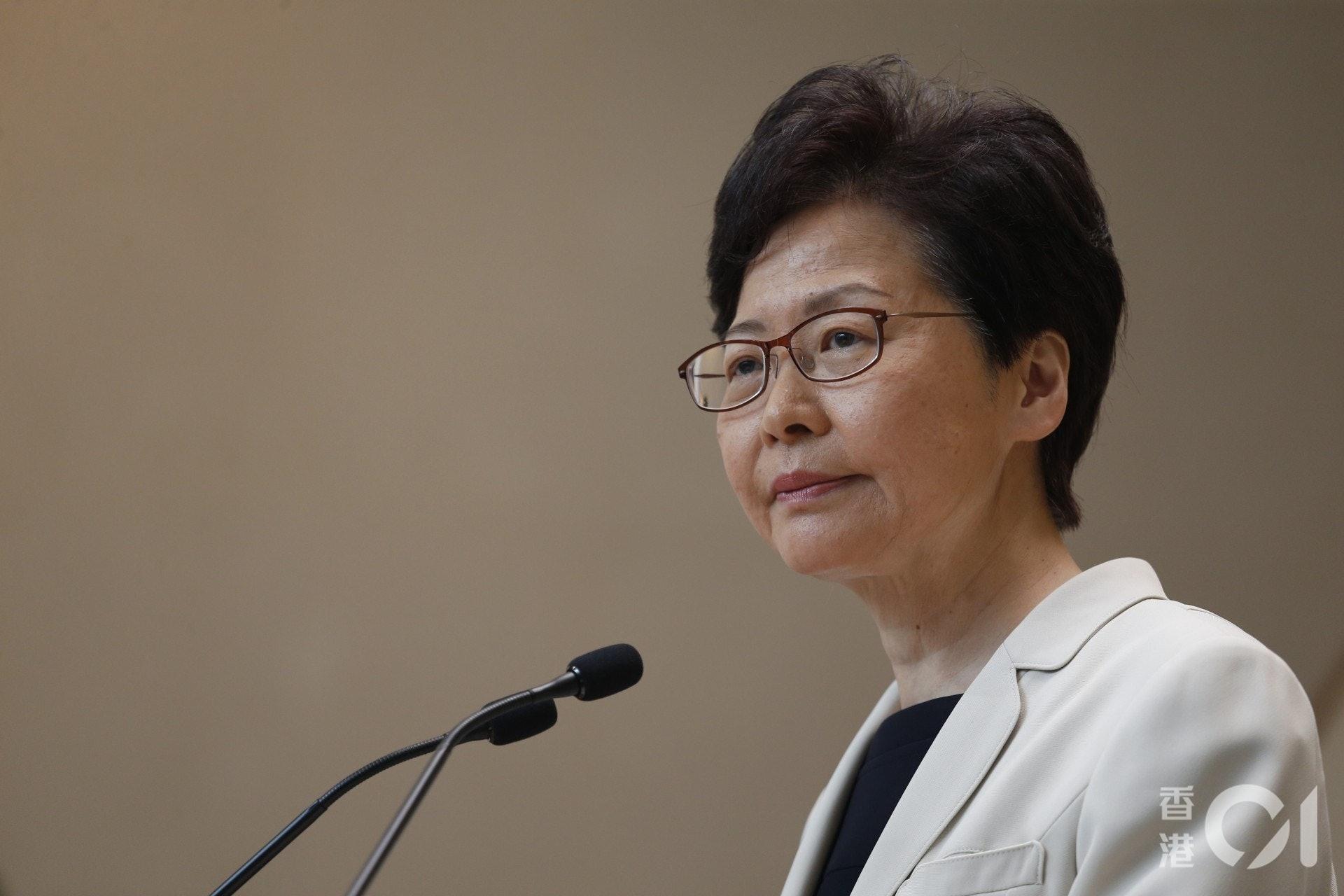 被問及會否引用《緊急情況規例條例》時,林鄭月娥未有否認相關傳聞時,指所有香港法律,如果能夠提供法治手段去止暴制亂,政府都有責任檢視。(資料圖片/ 梁鵬威攝)