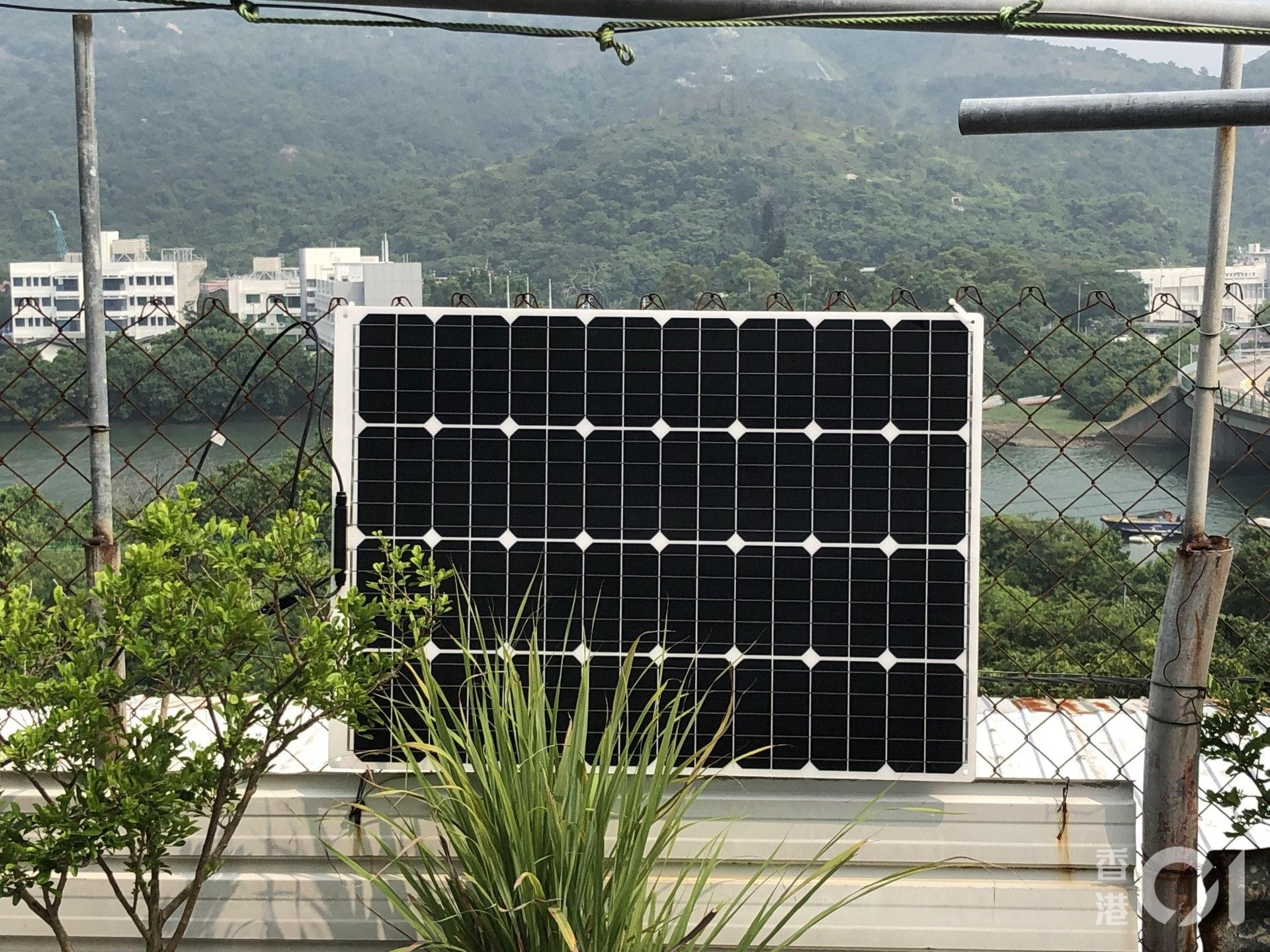 計劃使用最新太陽能板,輕薄、可彎曲、零重金屬。 (李樂天攝)