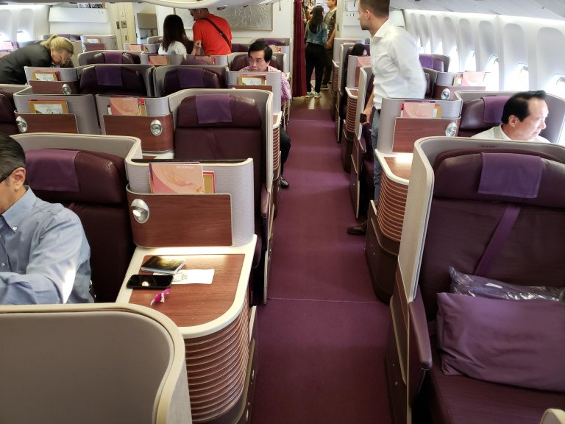 商務艙座位一覽,沒想到已經更新成新款式的了(TripPlus授權使用)
