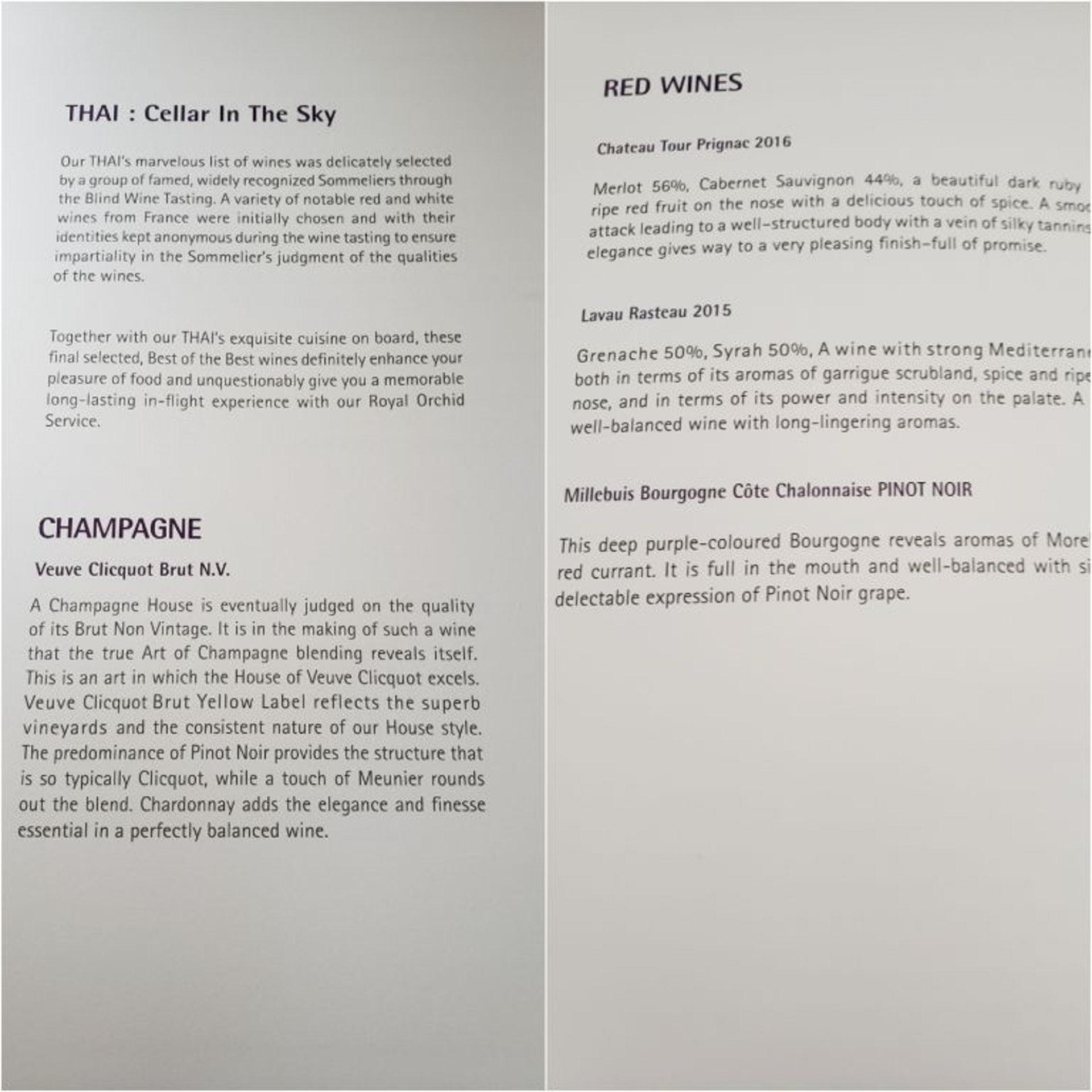 香檳酒(左圖)與紅酒(右圖)的選擇(TripPlus授權使用)