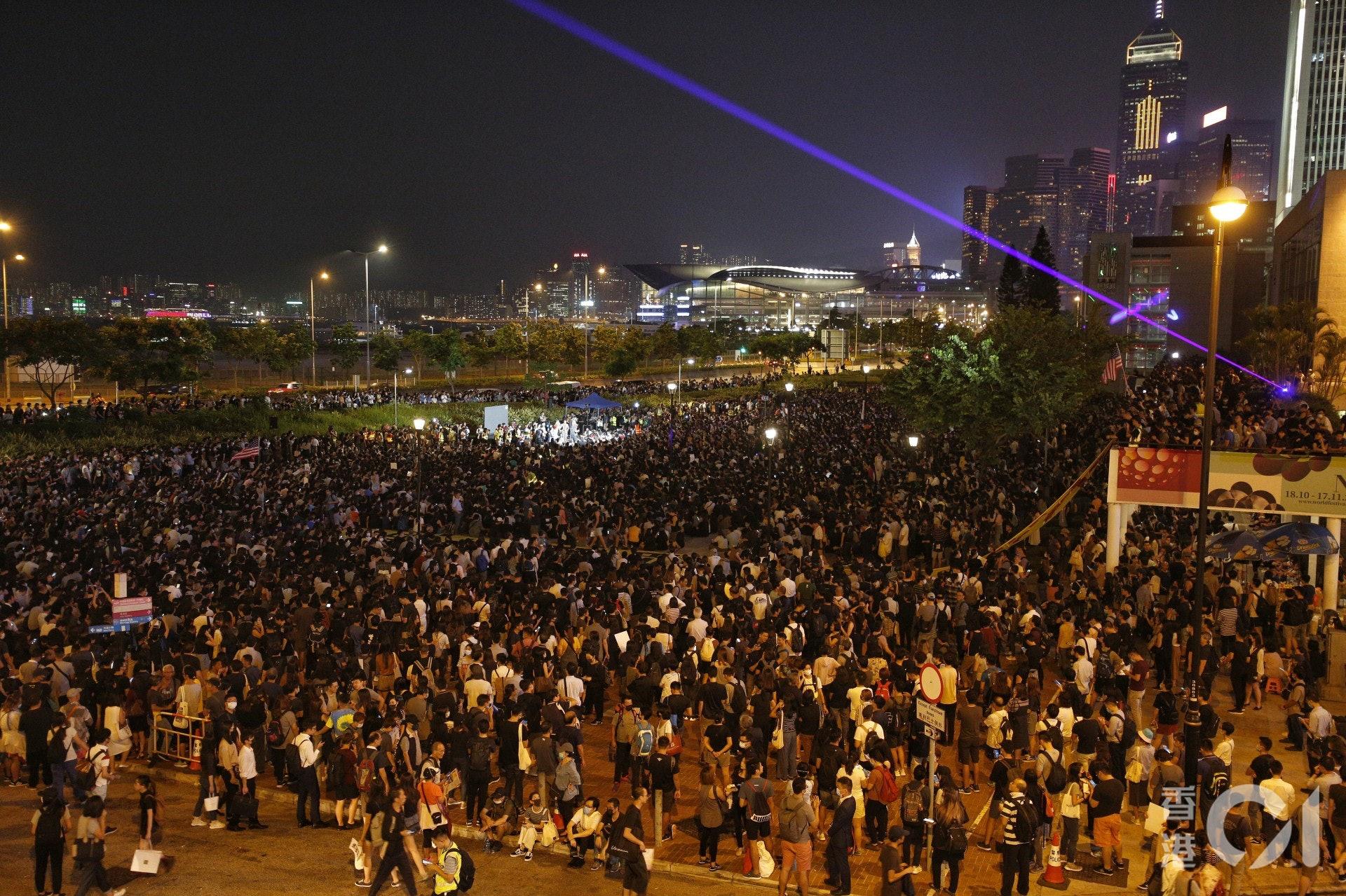 數千人出席集會。(張浩維攝)