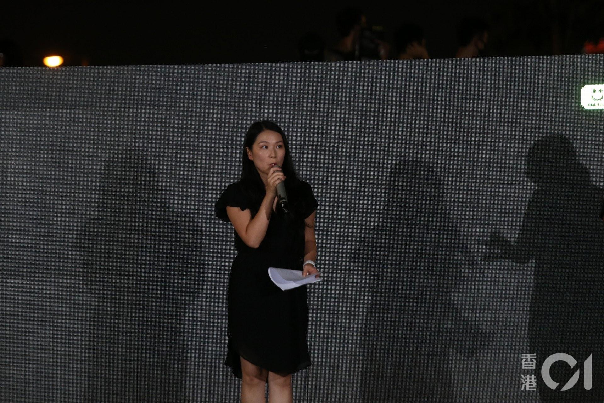香港人權監察發言人葉寬柔。(余睿菁攝)