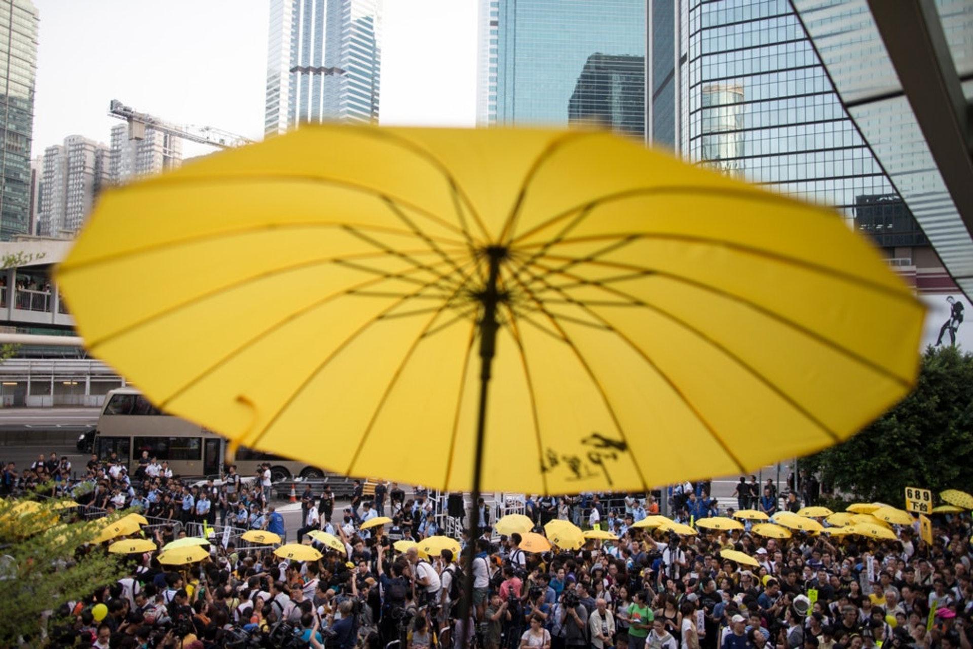 今日是雨傘運動5周年。(資料圖片)