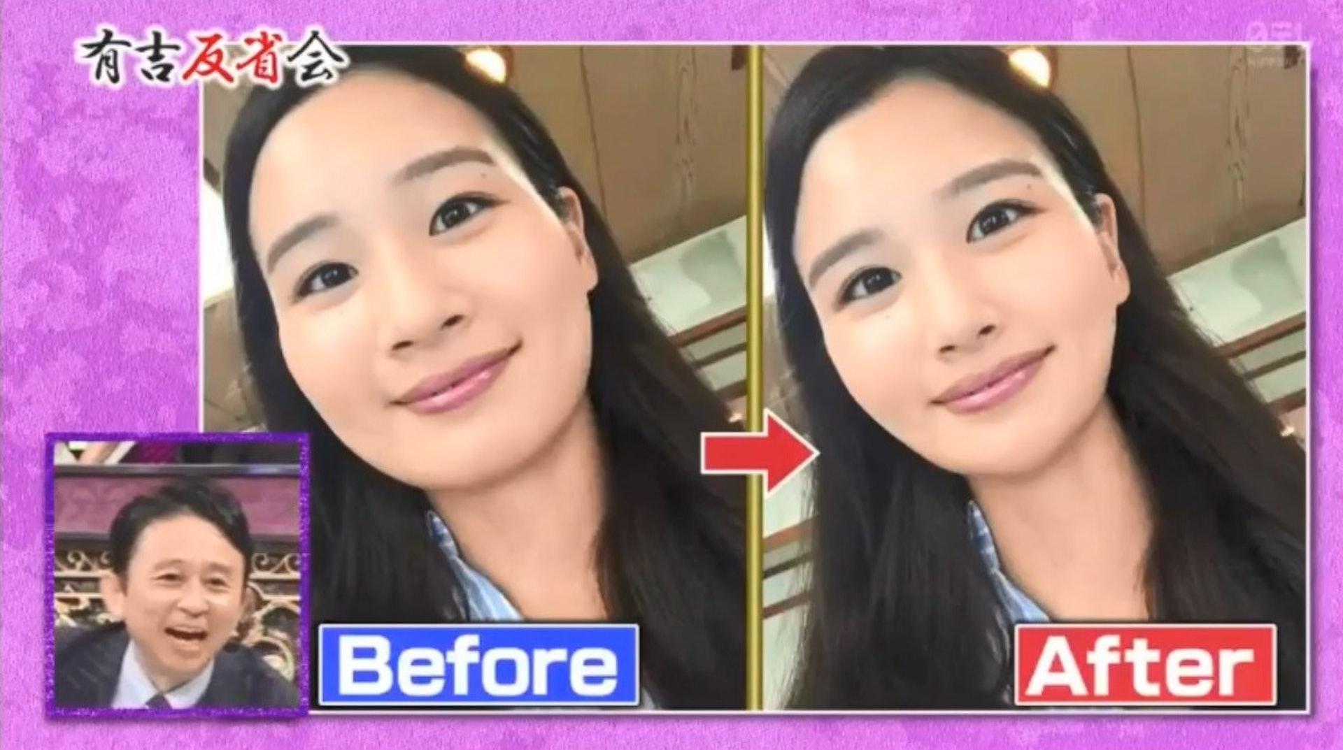 平時清瀨小姐在社交網站分享的美照也有修過,不過是她自己用APP修的。(節目截圖)