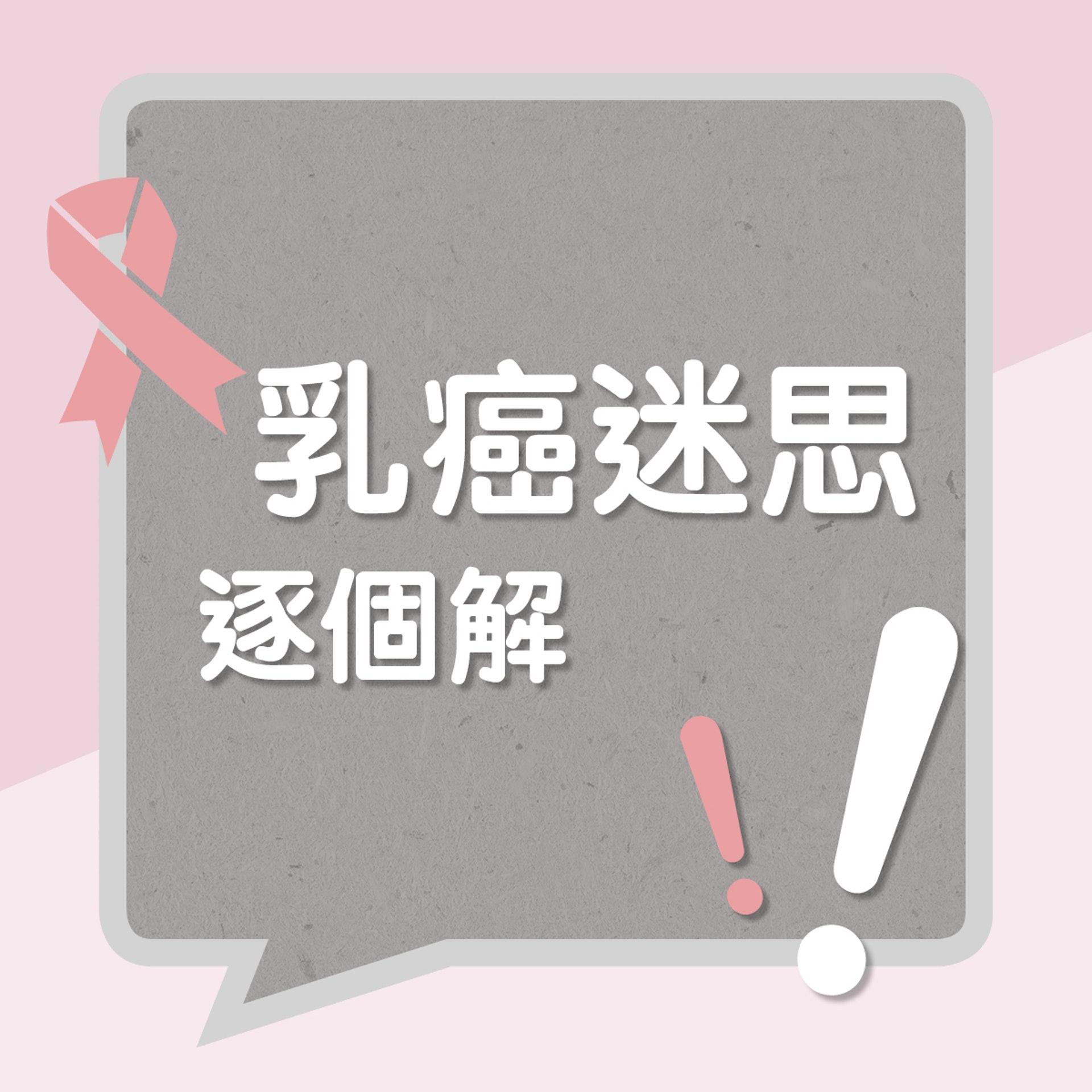 乳癌迷思逐個解!(01製圖)