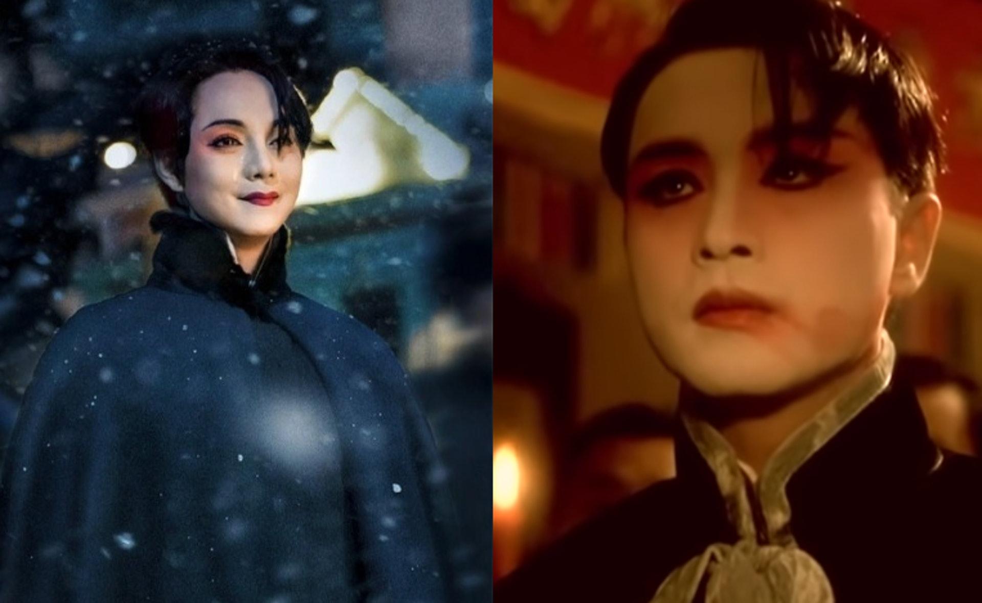 這個畫面兩者真是非常似。( 衛視一哥微博圖片﹑《霸王別姬》截圖)