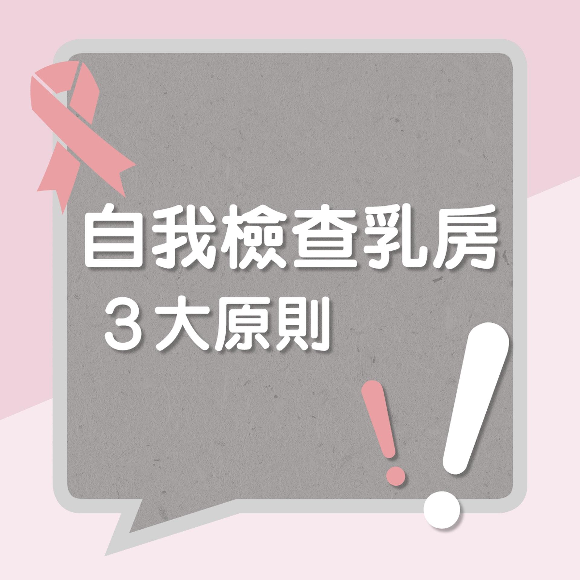 自我檢查乳房3大原則!(01製圖)