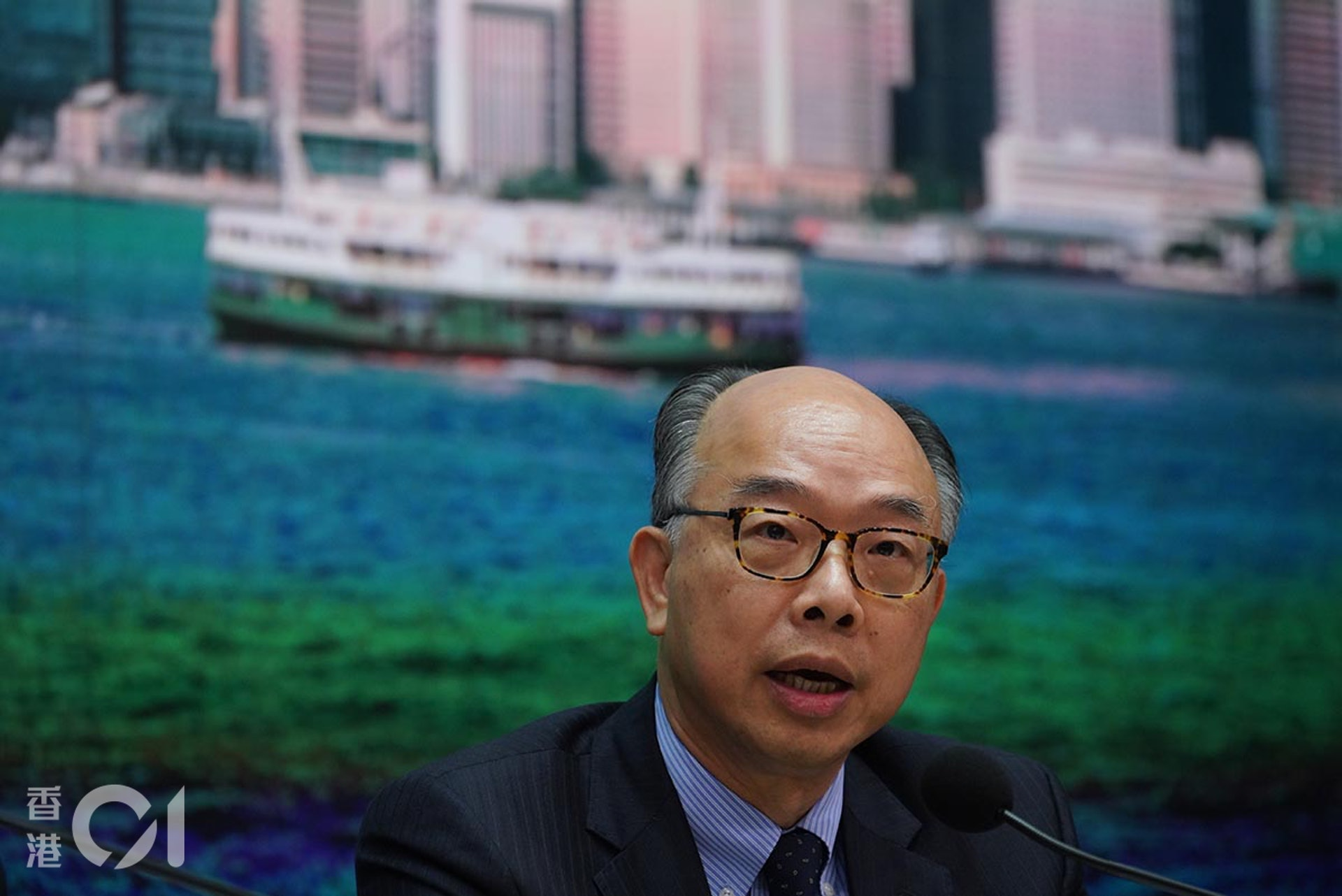 運房局局長陳帆指,吐露港公路是重要交通命脈。(高仲明攝)