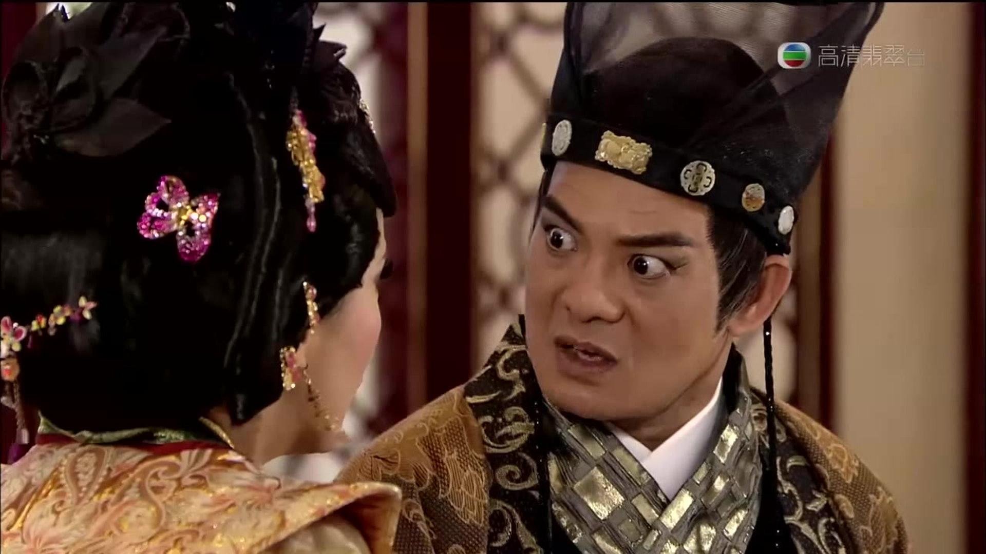 2009年《宮心計》飾演的馬元贄為劇中大反派,在結局篇擔任重要角色。(《宮心計》截圖)