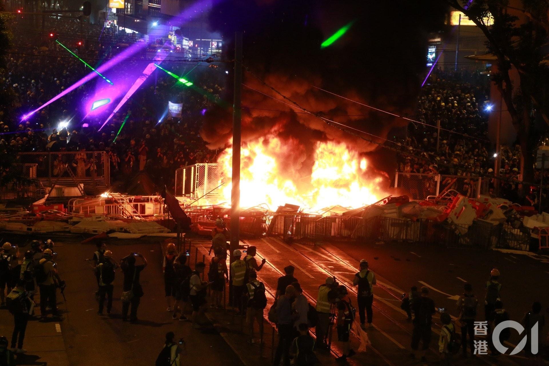8月31日示威情況。(資料圖片/梁鵬威攝)