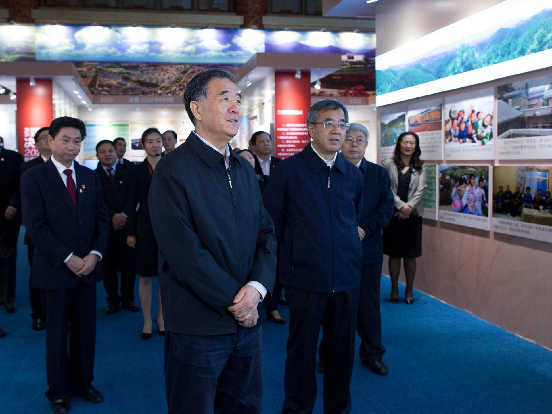 駱惠寧與汪洋(圖)交集的時間在1997年出任安徽省政府秘書長之前,他當過一段時間的副秘書長,負責輔助當時的副省長汪洋的工作。(新華社)