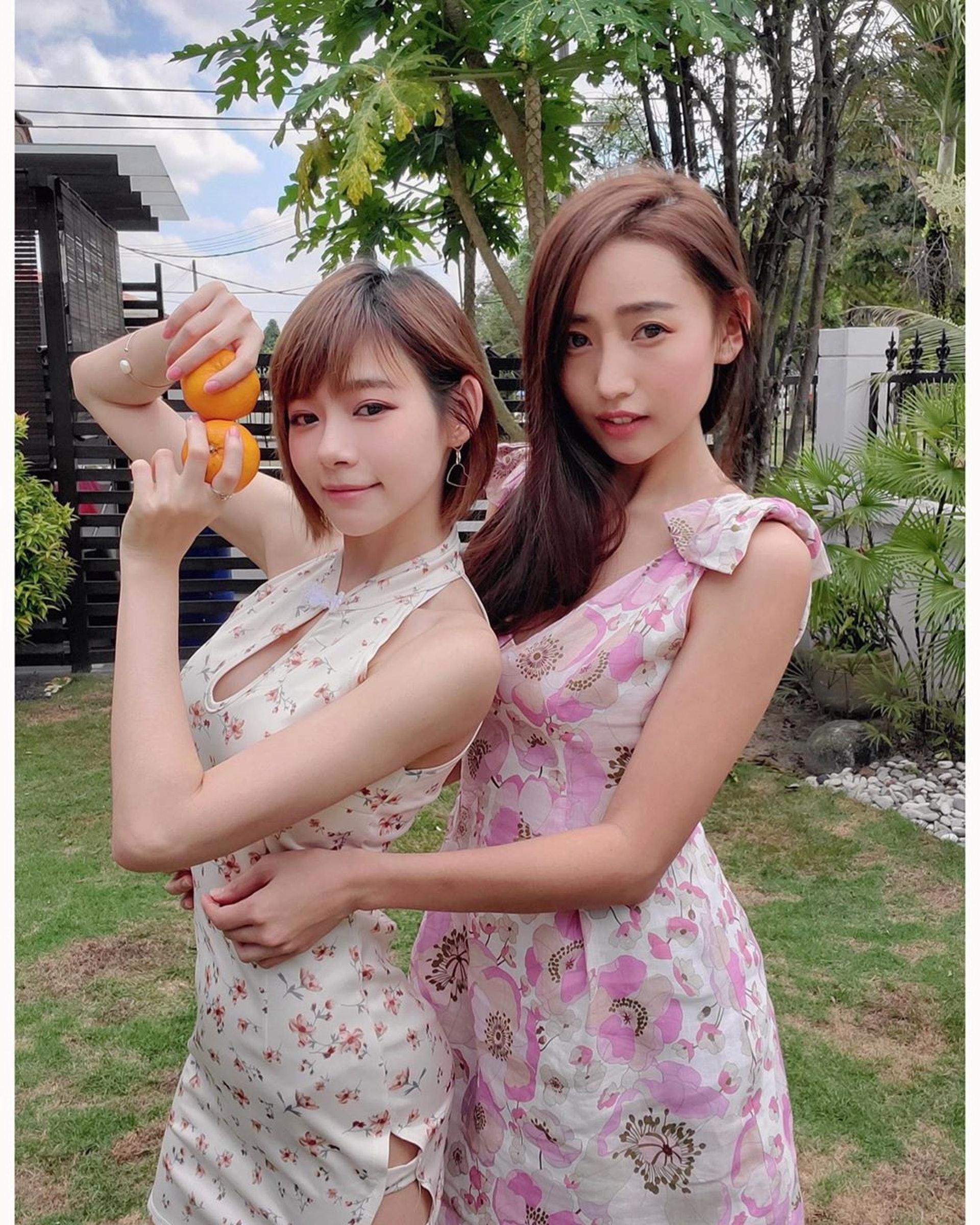林詩枝日前亦有貼出與林明禎的旗袍照。(Instagram/@brandy333nat)