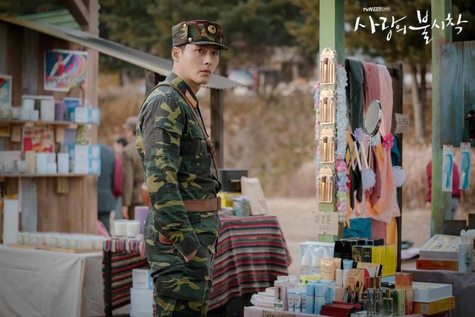 他在劇中飾演的型爆北韓軍人。(劇照)