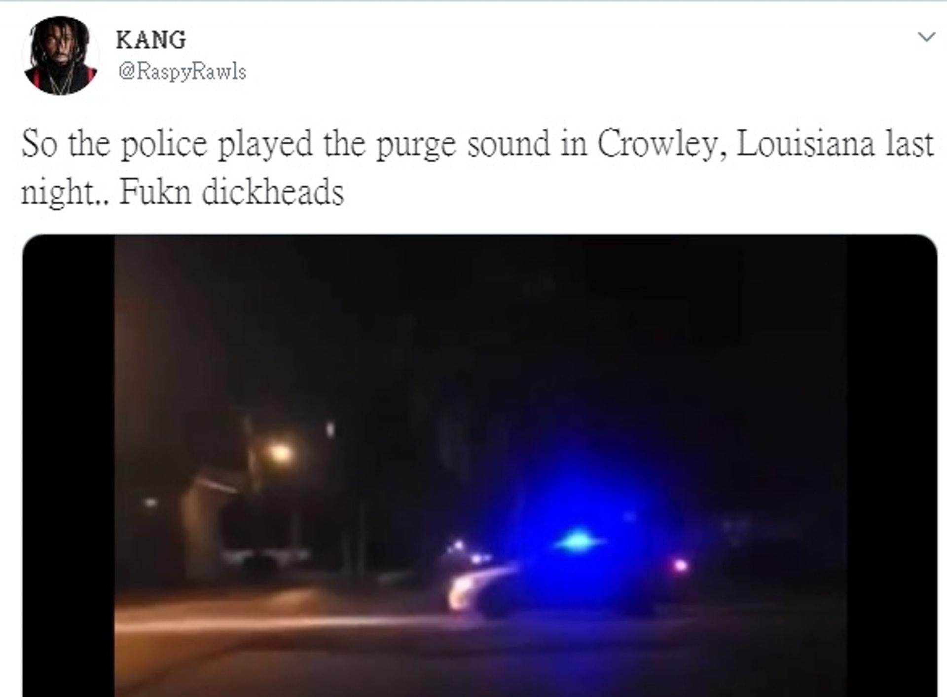 有網民上載事發短片,爆粗鬧爆克羅利警察局的手法。(RaspyRawls Twitter 擷圖)
