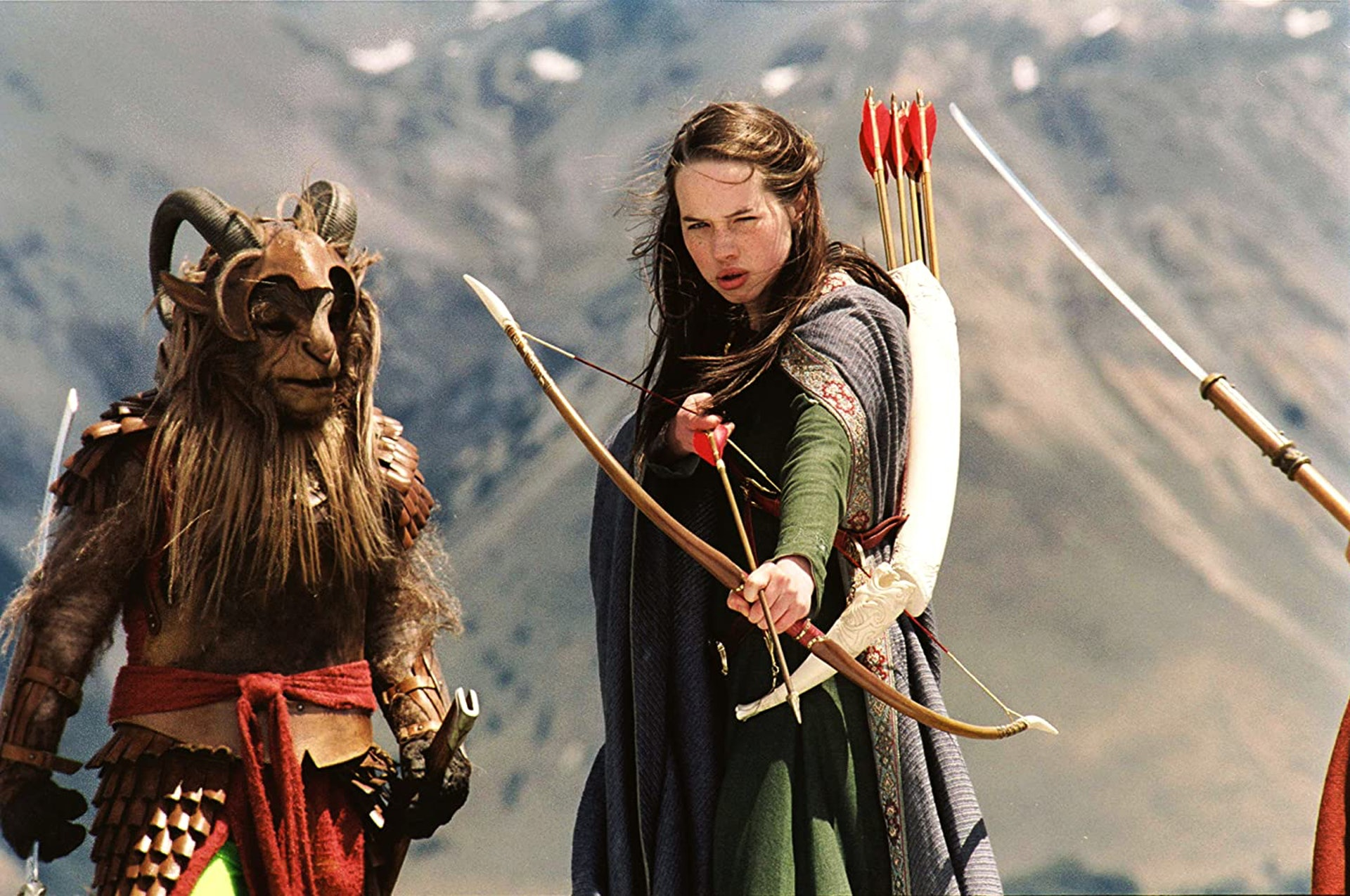 Anna Popplewell在戲中飾演二家姐Susan Pevensie。(《魔幻王國:獅子·女巫·魔衣櫥》劇照)