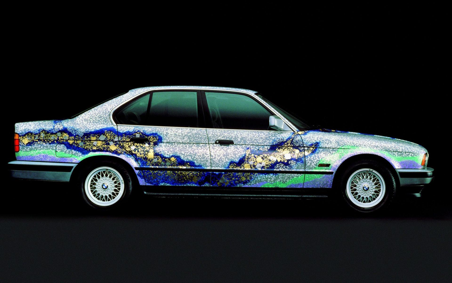 第五屆Art Basel展出的BMW Art Car,由日本藝術大師加山又造以BMW 535i進行創作。(官方圖片)