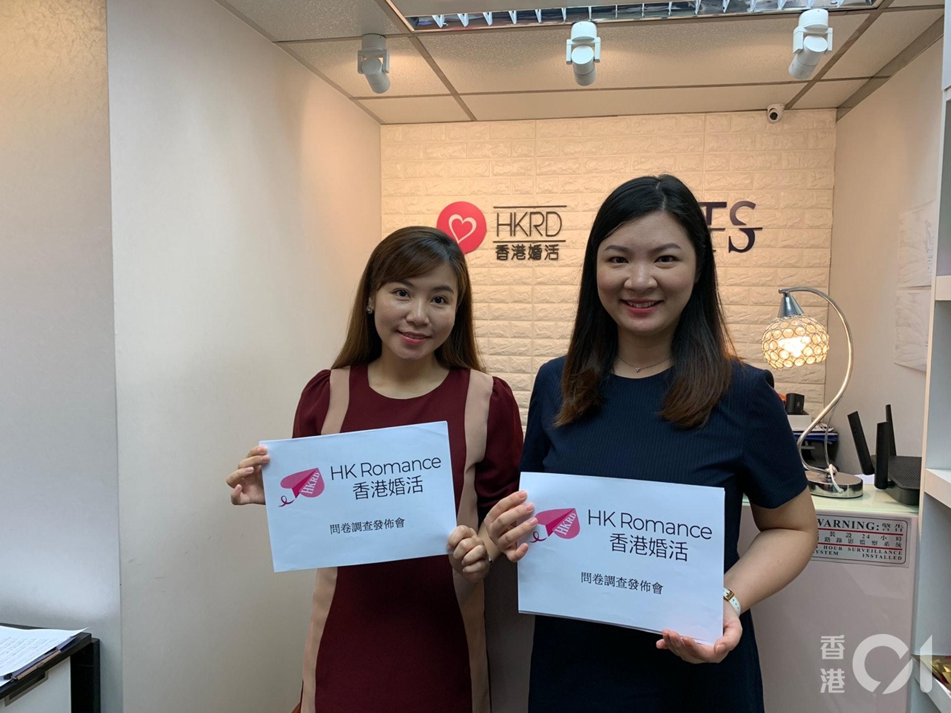 交友約會公司「HK Romance dating香港婚活」於6月就單身人士移民意向作調查。(張嘉敏攝)
