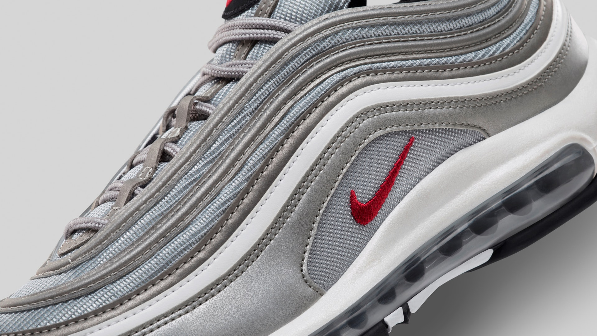 Nike Air Max 97 Reflective Triple White Men's Trainer All