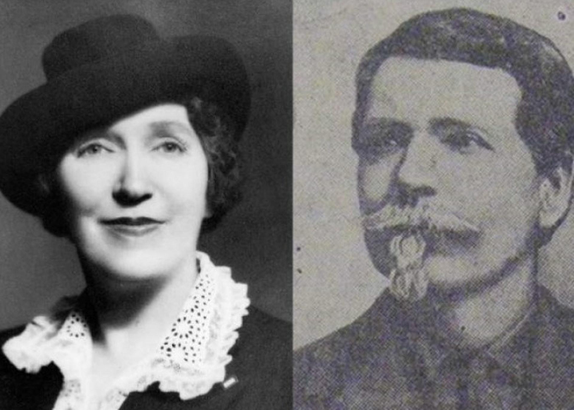 杜德夫人〈左〉致力推動成立父親節,以感謝父親斯馬特〈右〉的付出。〈網上圖片〉