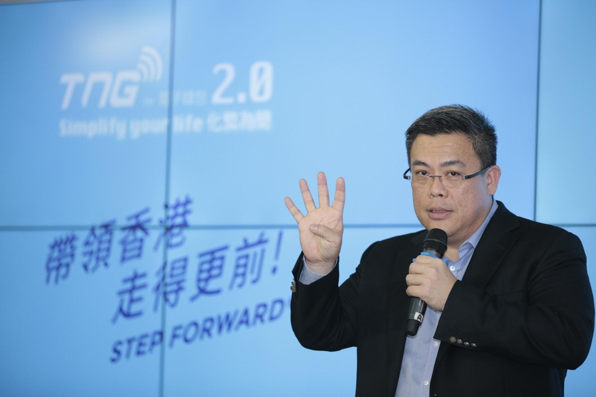 江慶恩指,在iPhone推出第一代的時候,已計劃推出一個自家營運的電子支付平台。(鍾偉德攝)