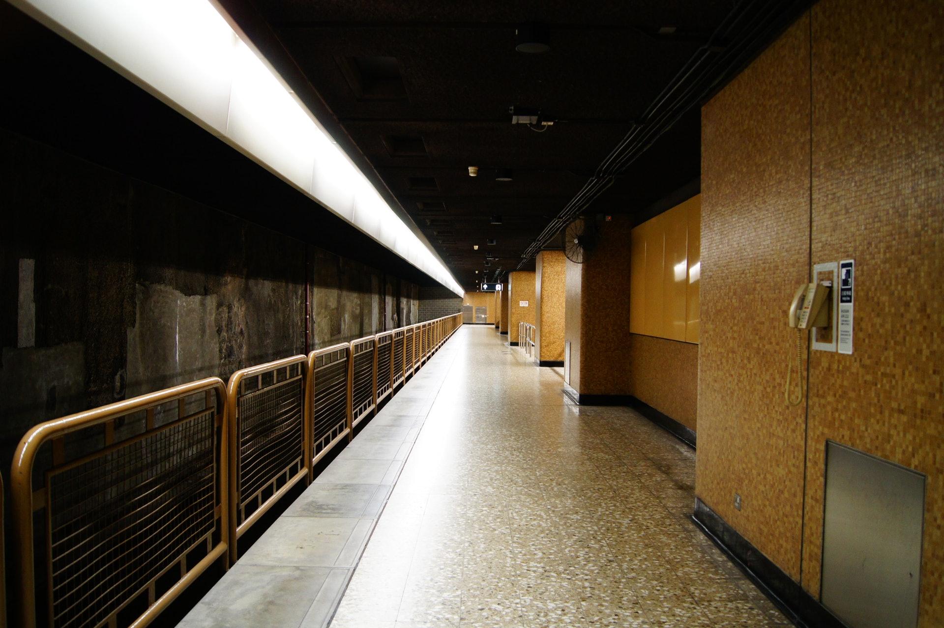 網上流傳多張原來是林士站月台的圖片。(網上圖片)