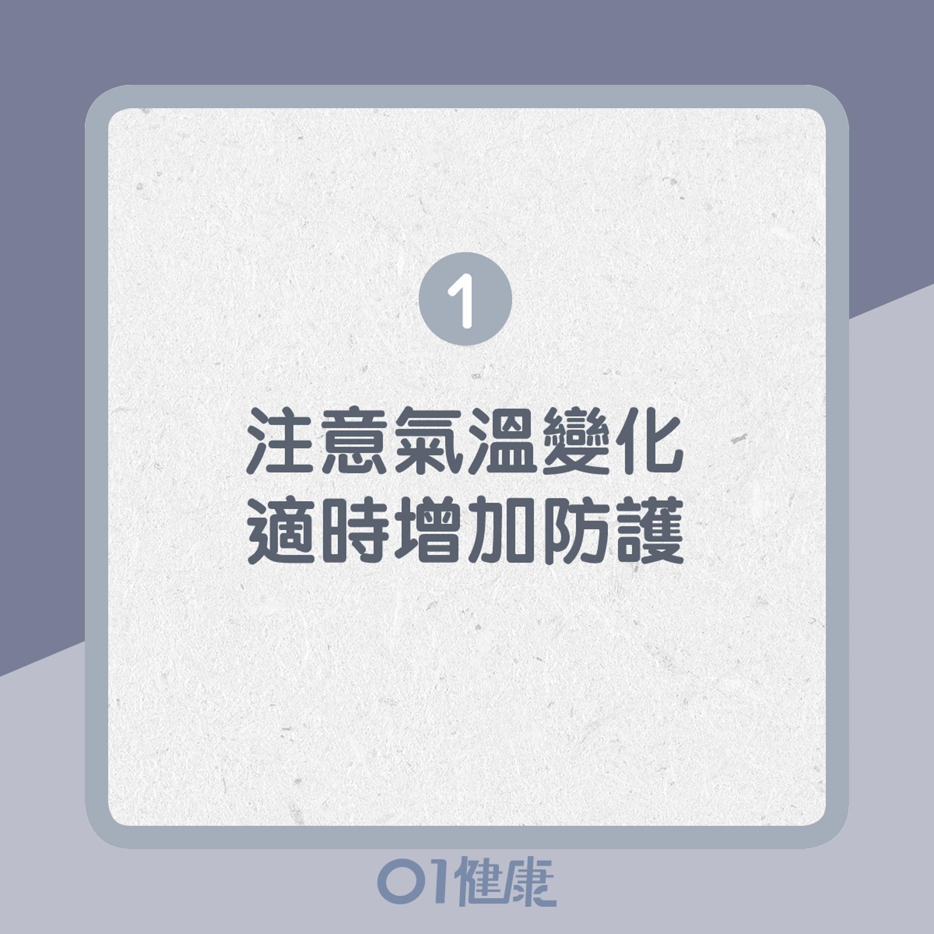 1. 注意氣溫變化,適時增加防護(01製圖)