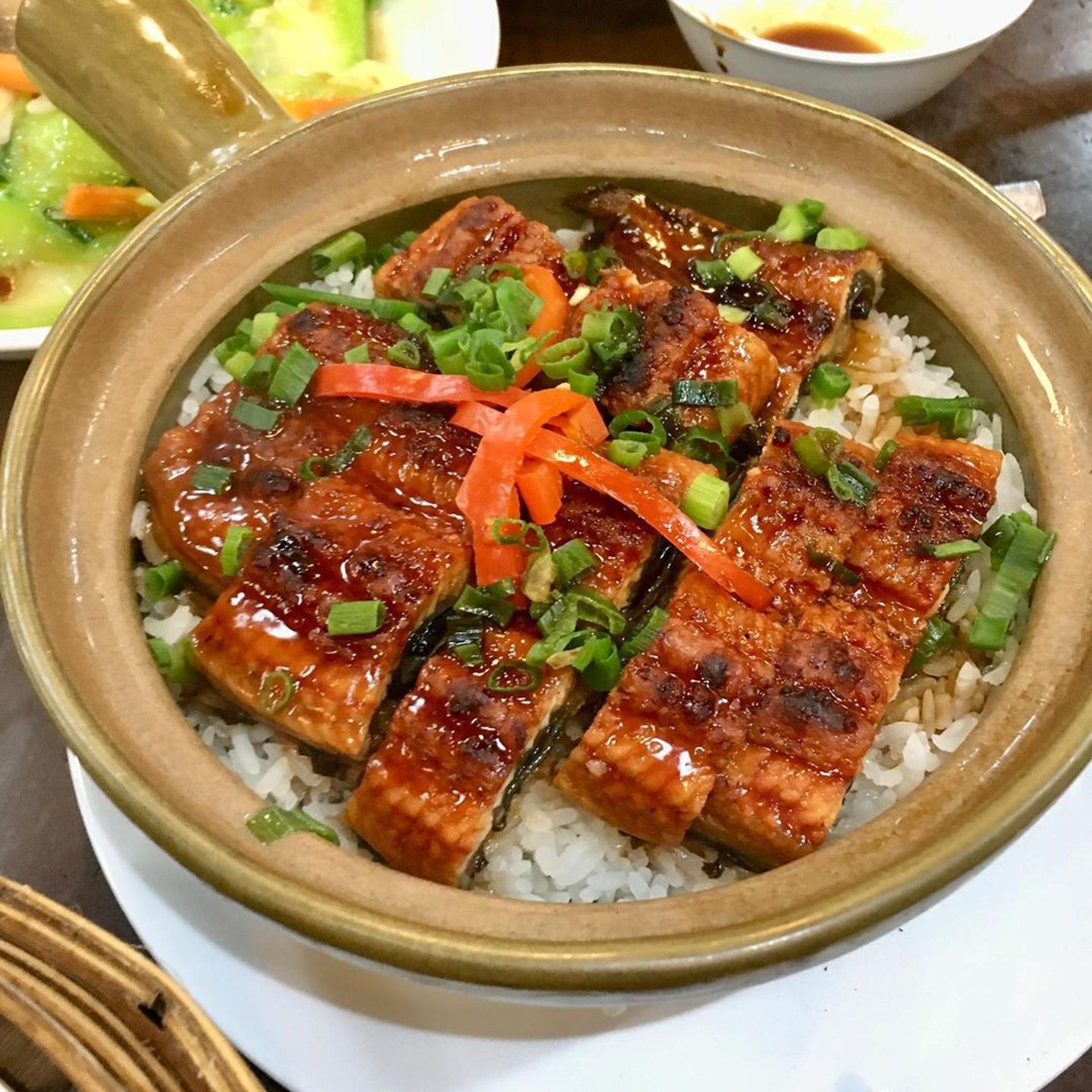 日式饅魚煲仔飯($96),鰻魚份量多。(ig@ kitprincess)