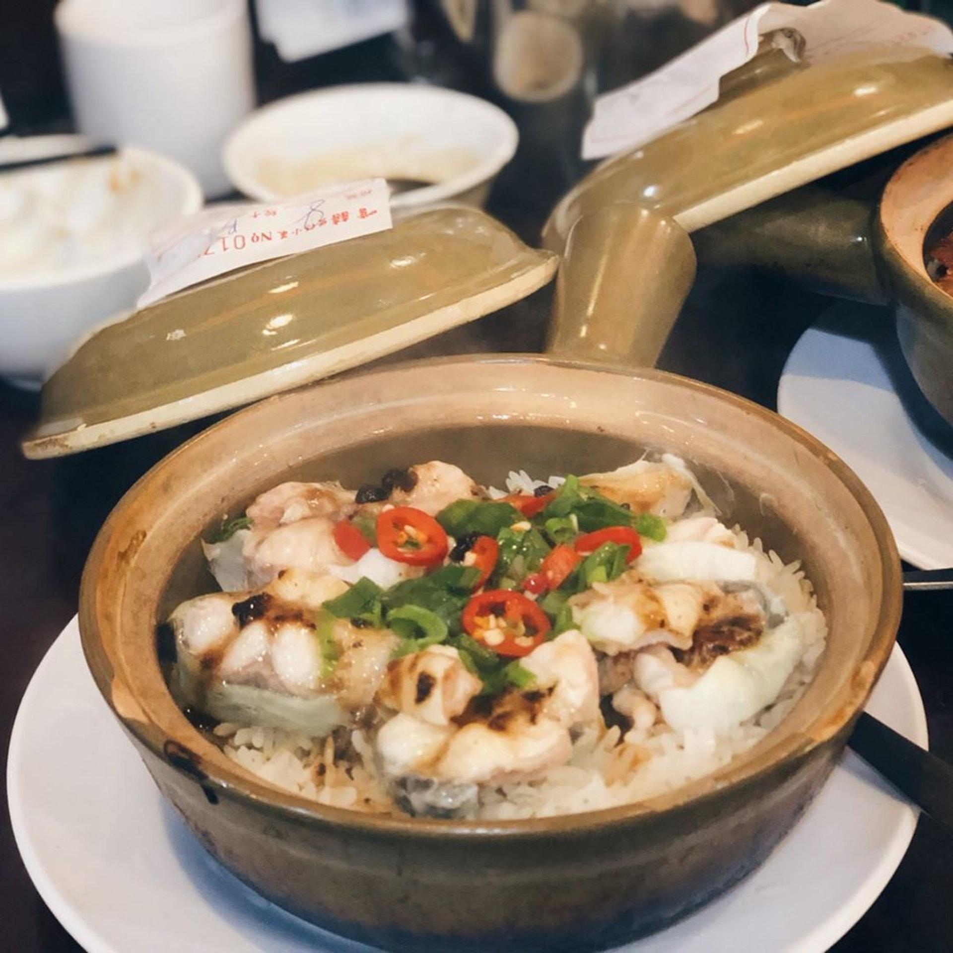 白饍煲仔飯($88),白鱔份量多,魚肉厚、不會有腥味。(ig@ foodieshek)