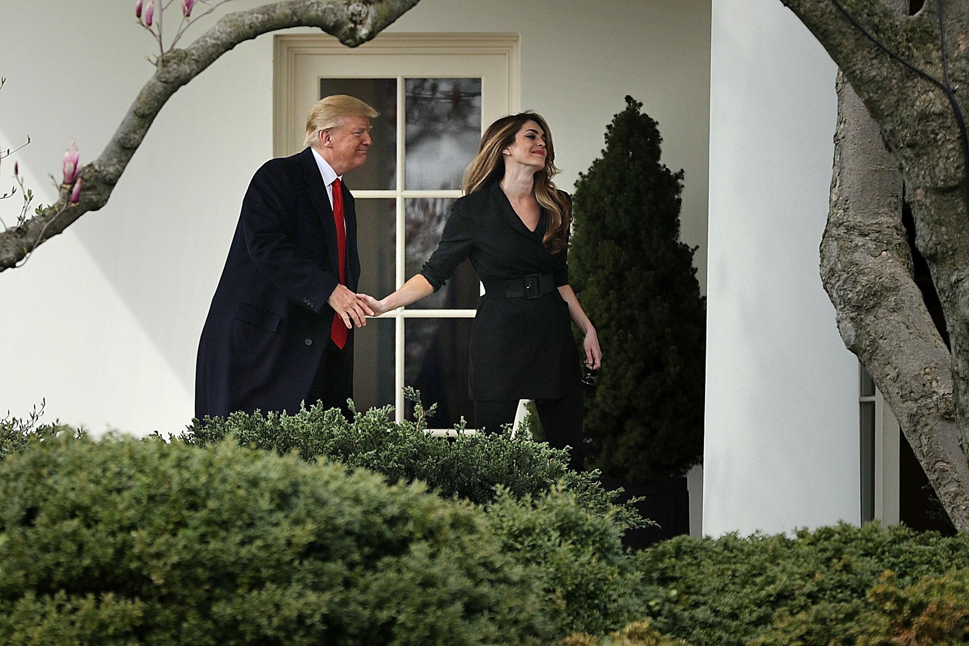 希克斯:希克斯於2018年8月離開白宮,之後在霍士(Fox)擔任執行副總裁及首席通訊官。有分析認為,她今次重回白宮,背後源於特朗普希望打造與2016年競選總統時相似的地方,以迎接2020年大選。(Getty)