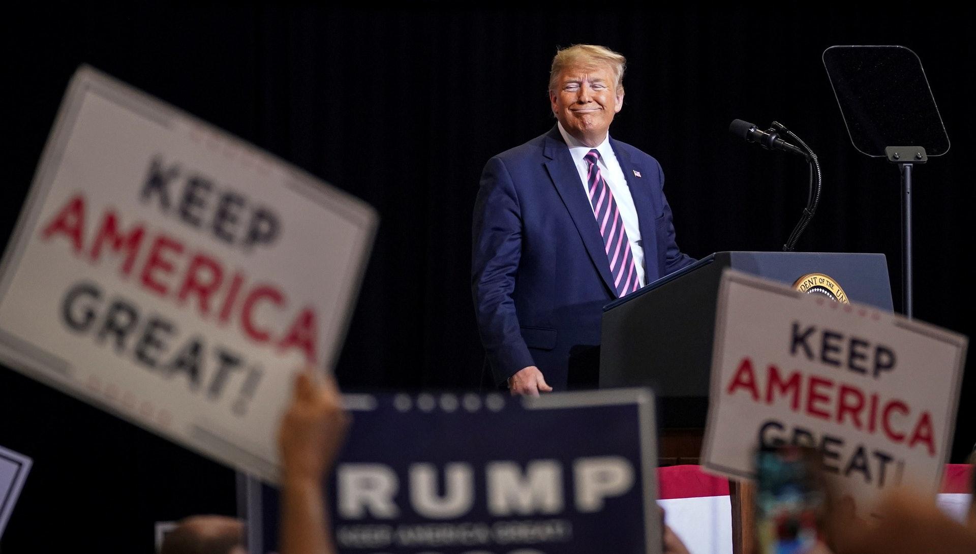 特朗普面對11月的美國大選,需要有「政績」在手。(路透社)
