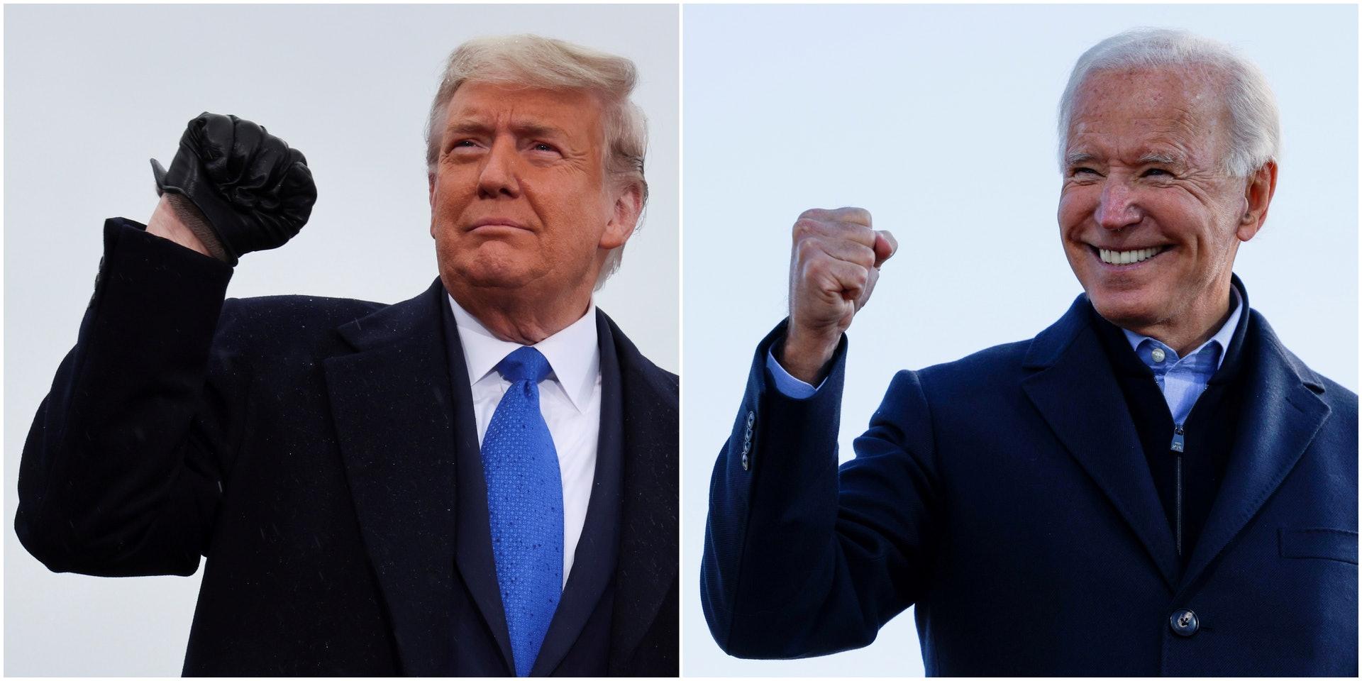 對於中國來說,特朗普(左)與拜登(右)誰才是一個好的美國總統?中國社會正為此經歷一場爭論。(Reuters)