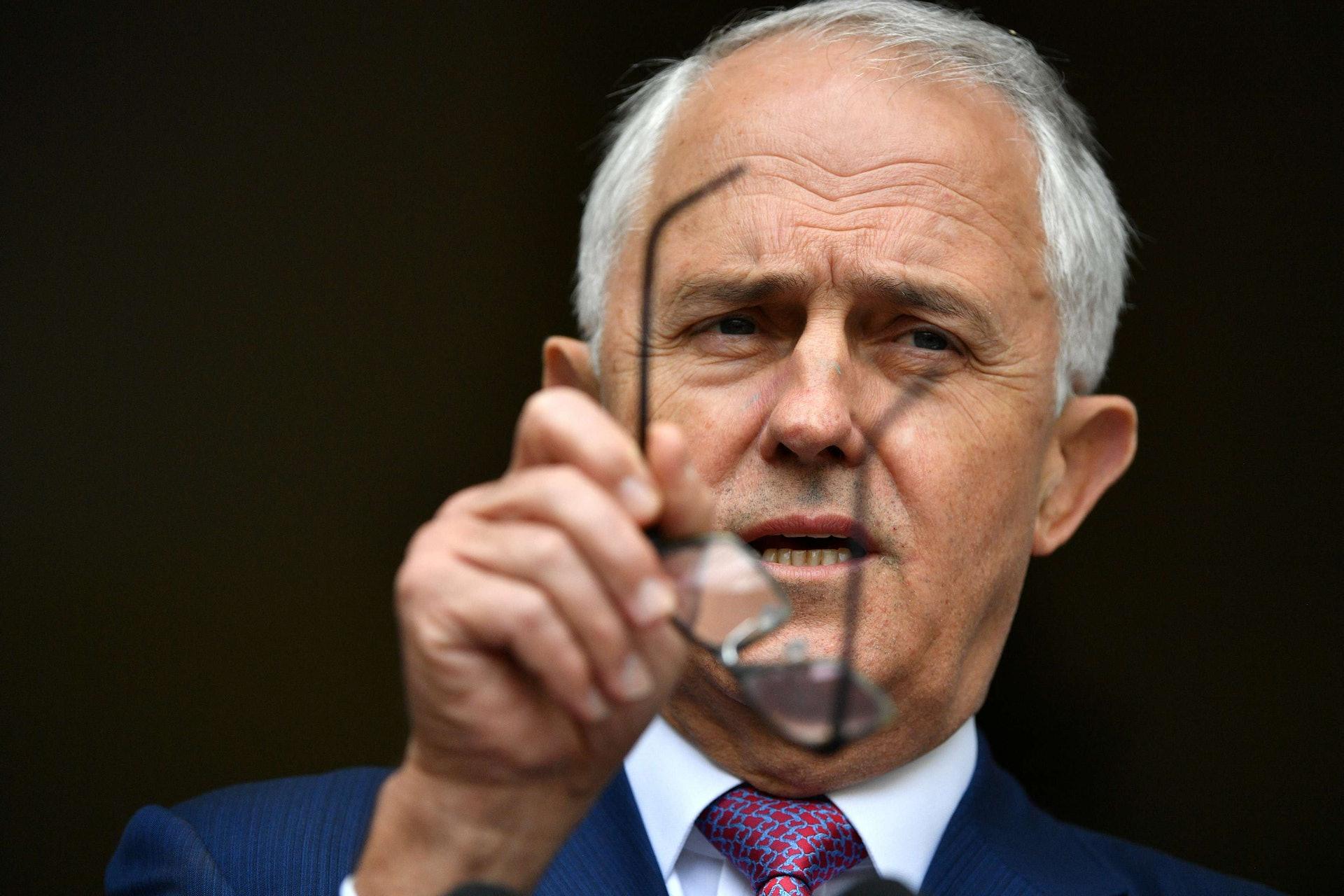 澳洲前總理特恩布爾( Malcolm Turnbull )曾發表爭議性言論「澳洲人民站起來了」。(Reuters)