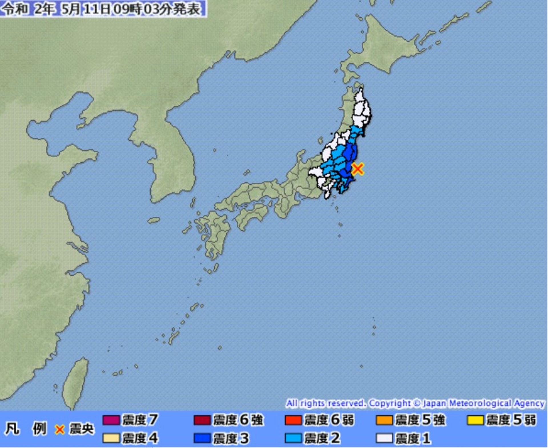東北 地震