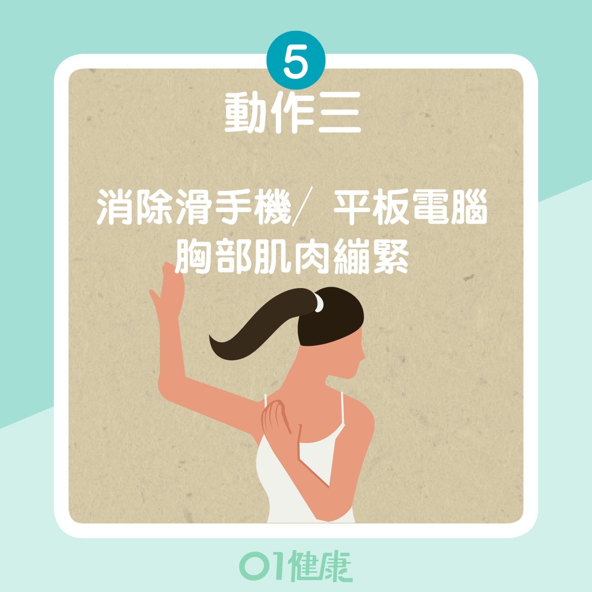 紓緩肩痛4大動作(01製圖)