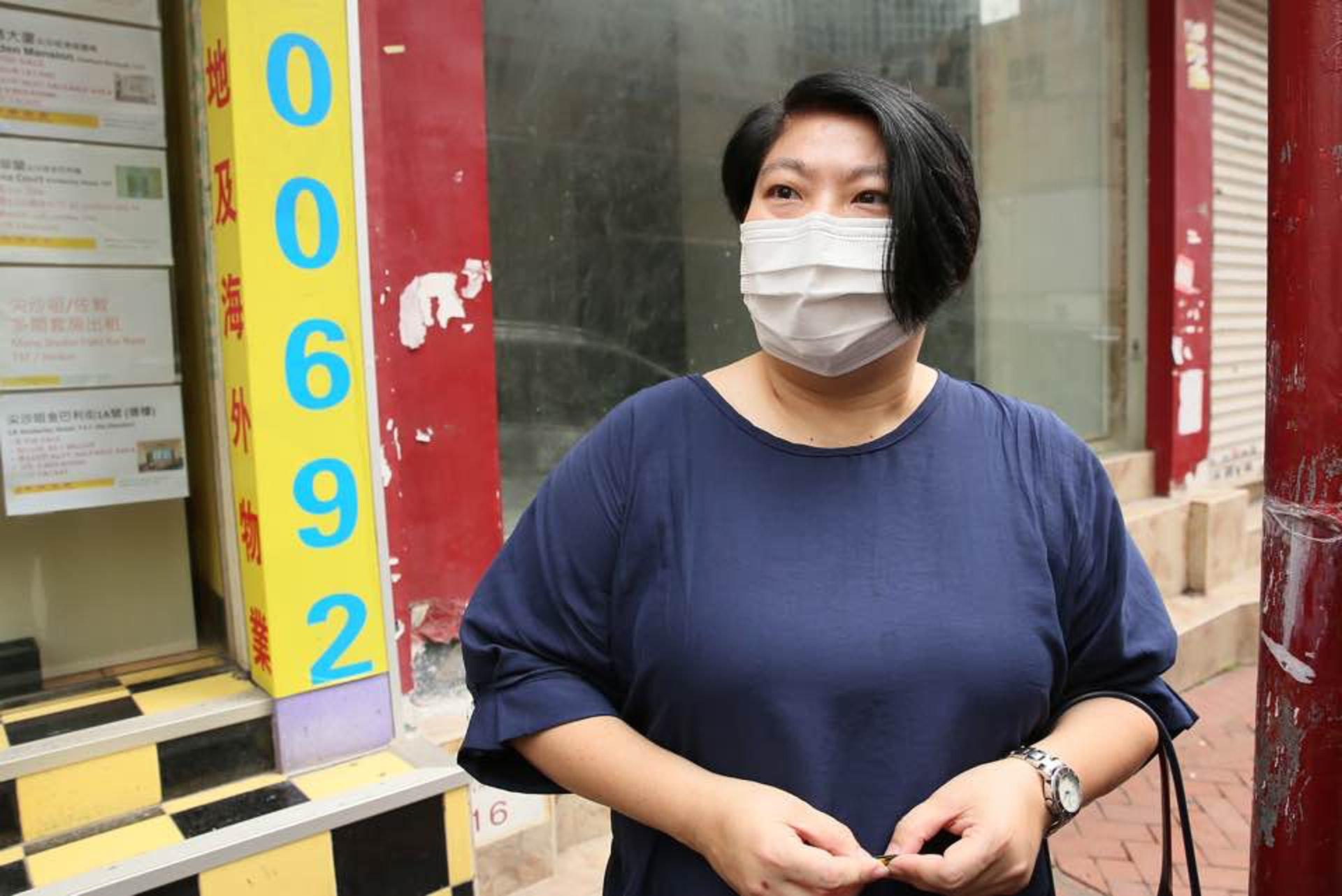林小姐稱國安法無問題,一般市民好守法。(黃舒慧攝)