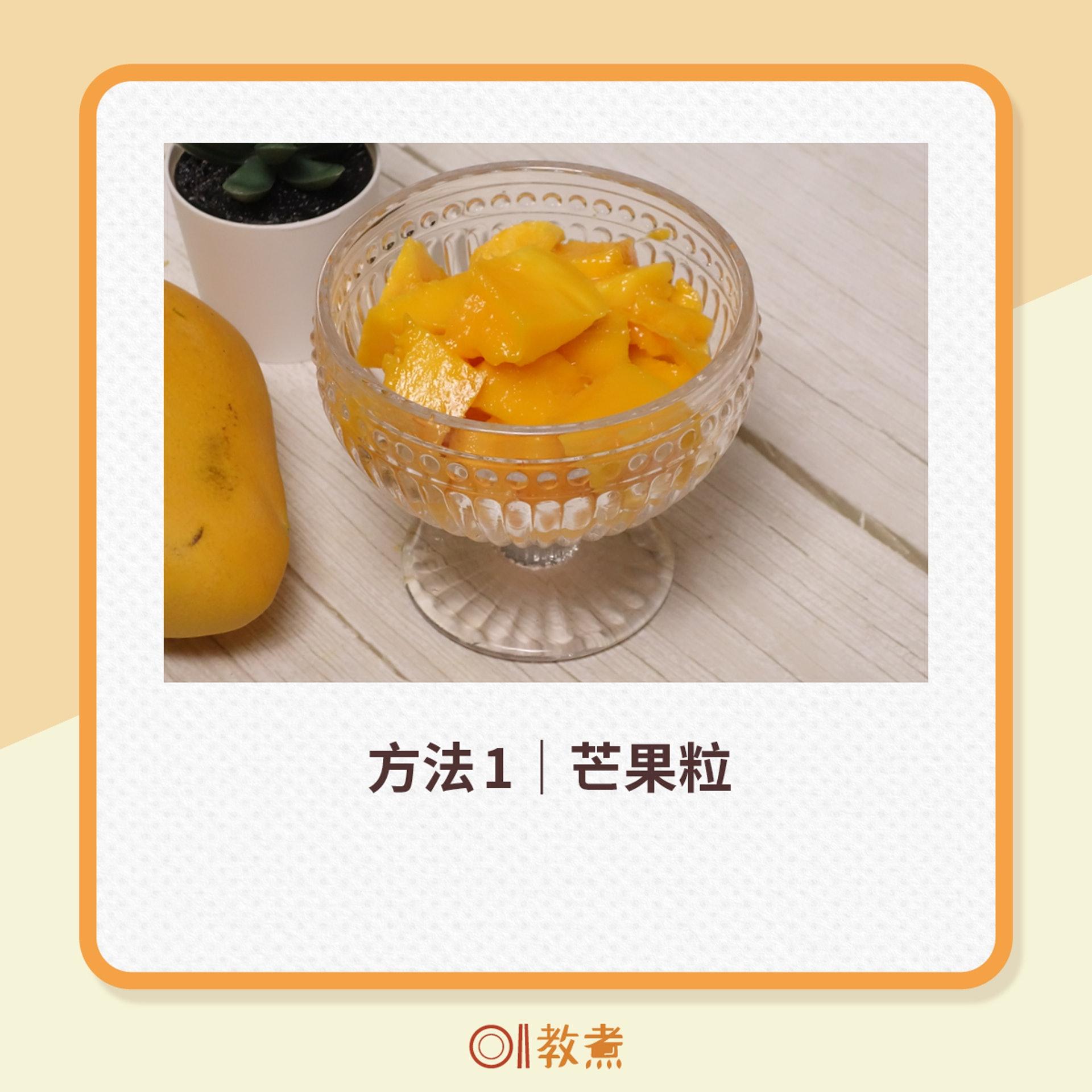 簡易芒果起肉法(01製圖)