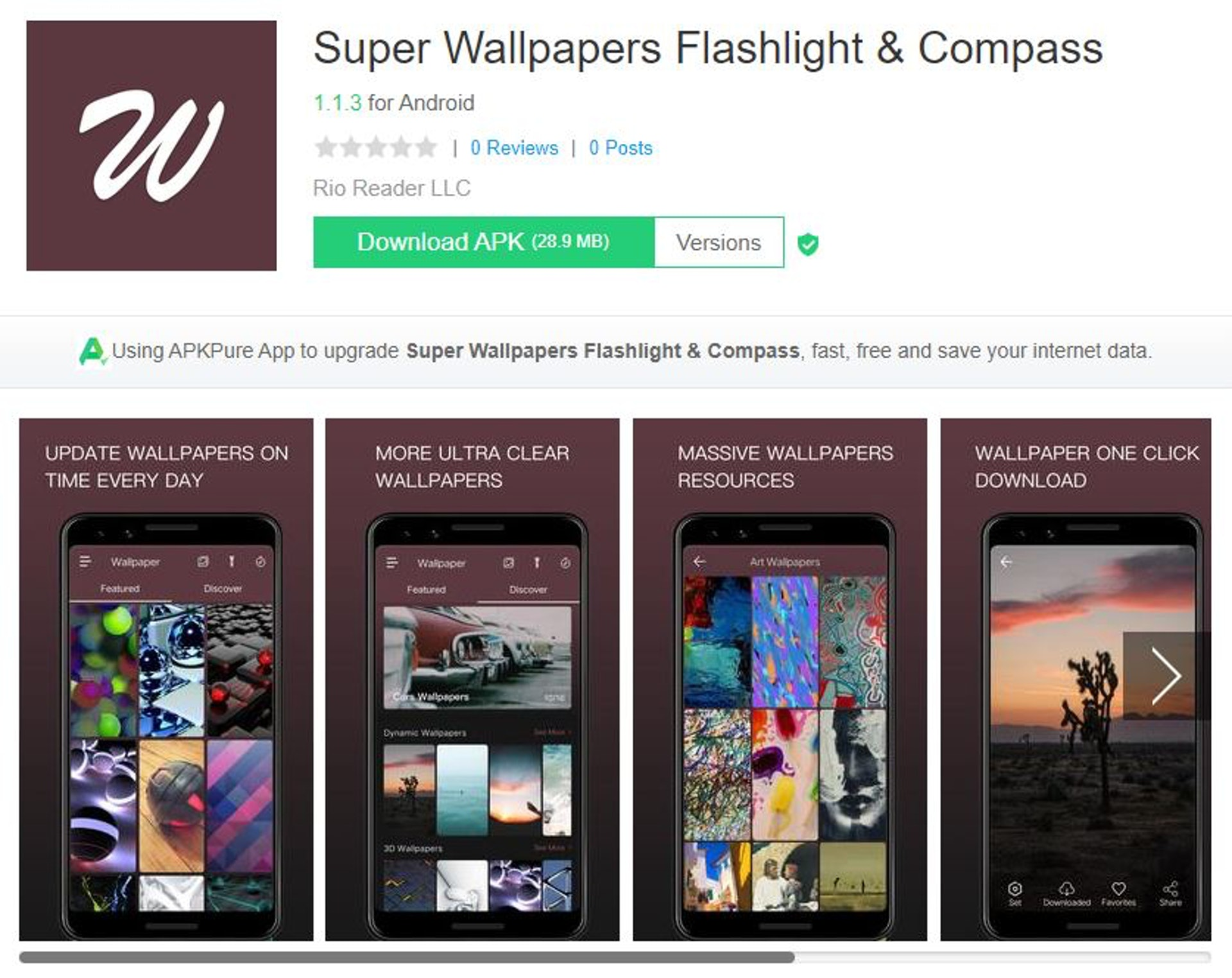 Super Wallpapers Flashlight(apkpure)