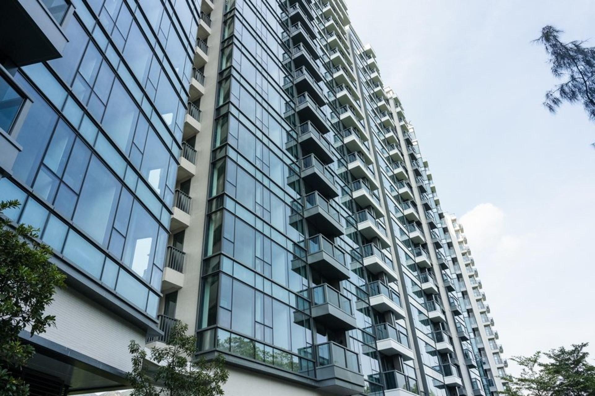 屯門上源提供1,154伙,由5座住宅大樓及30座洋房組成,全盤最細由321平方呎起。(歐嘉樂攝)