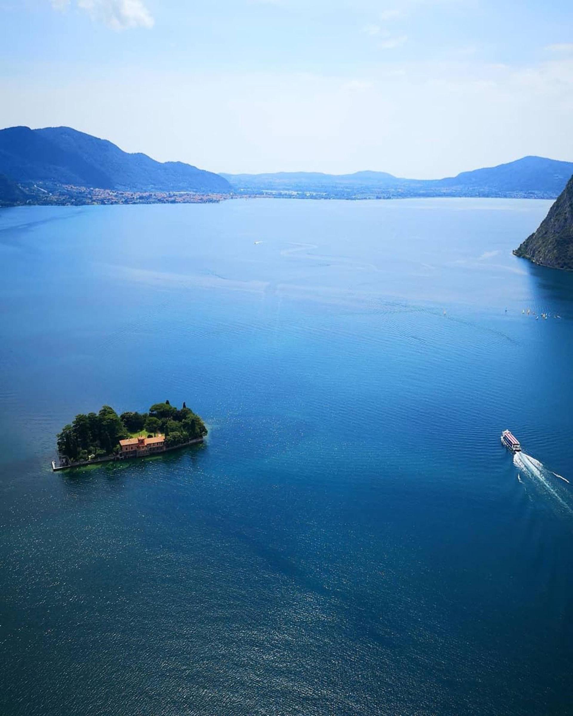 意大利北部伊塞奧湖小島堡壘(visitlakeiseo / IG)