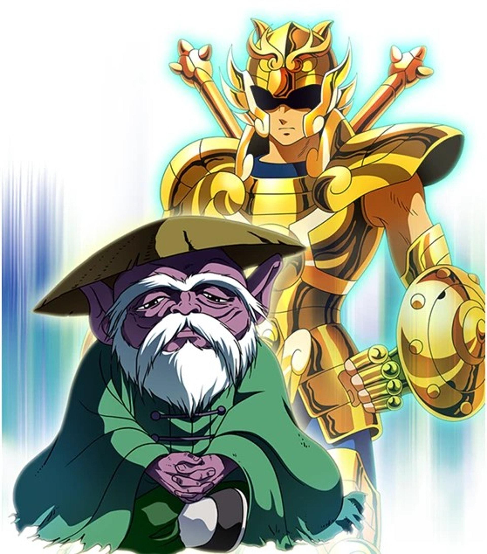 譚炳文為《聖鬥士星矢》中的童虎、基加斯、城戶光政三人配音。(網上圖片)