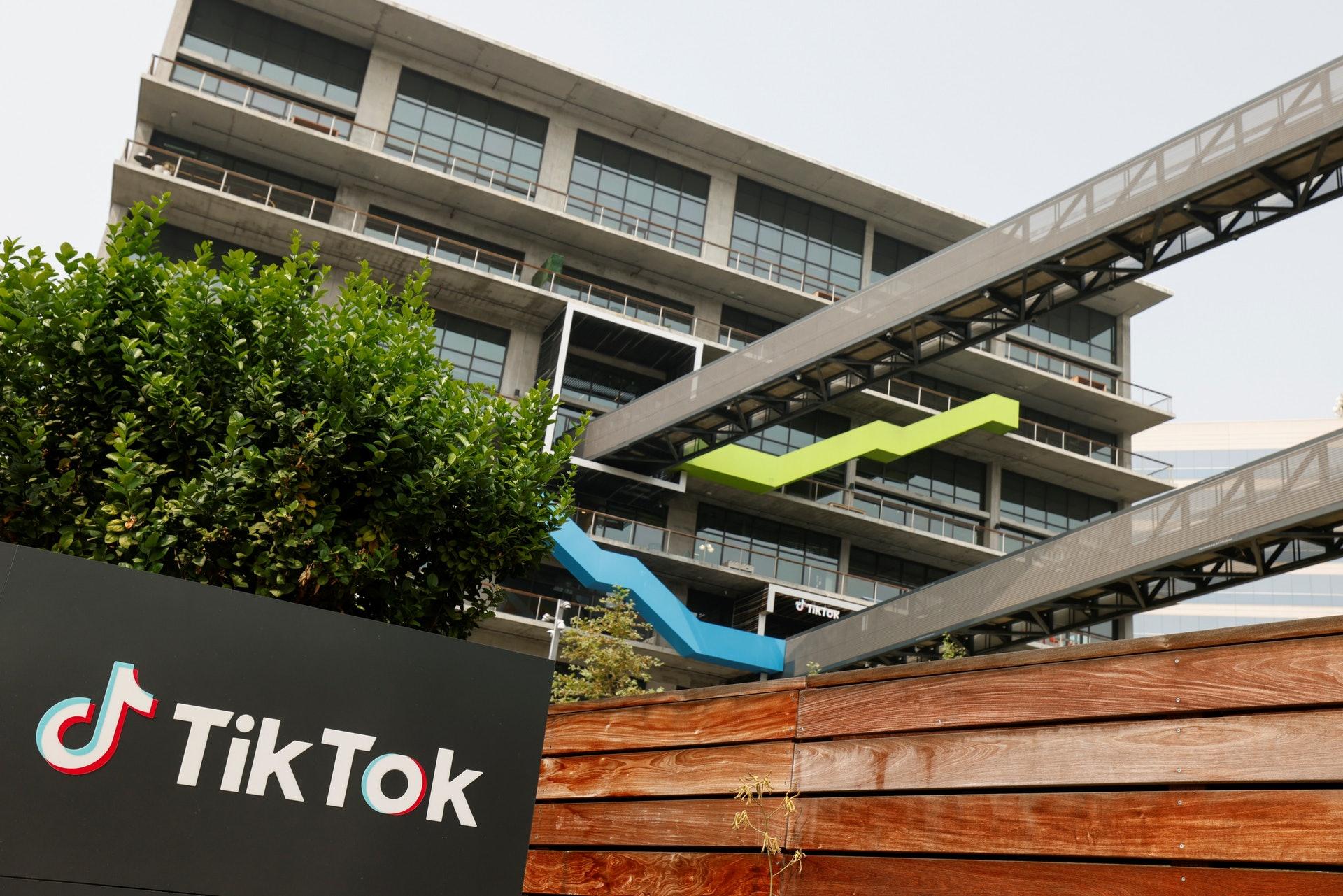 图为9月15日,位于加州的TikTok美国总部。(Reuters)