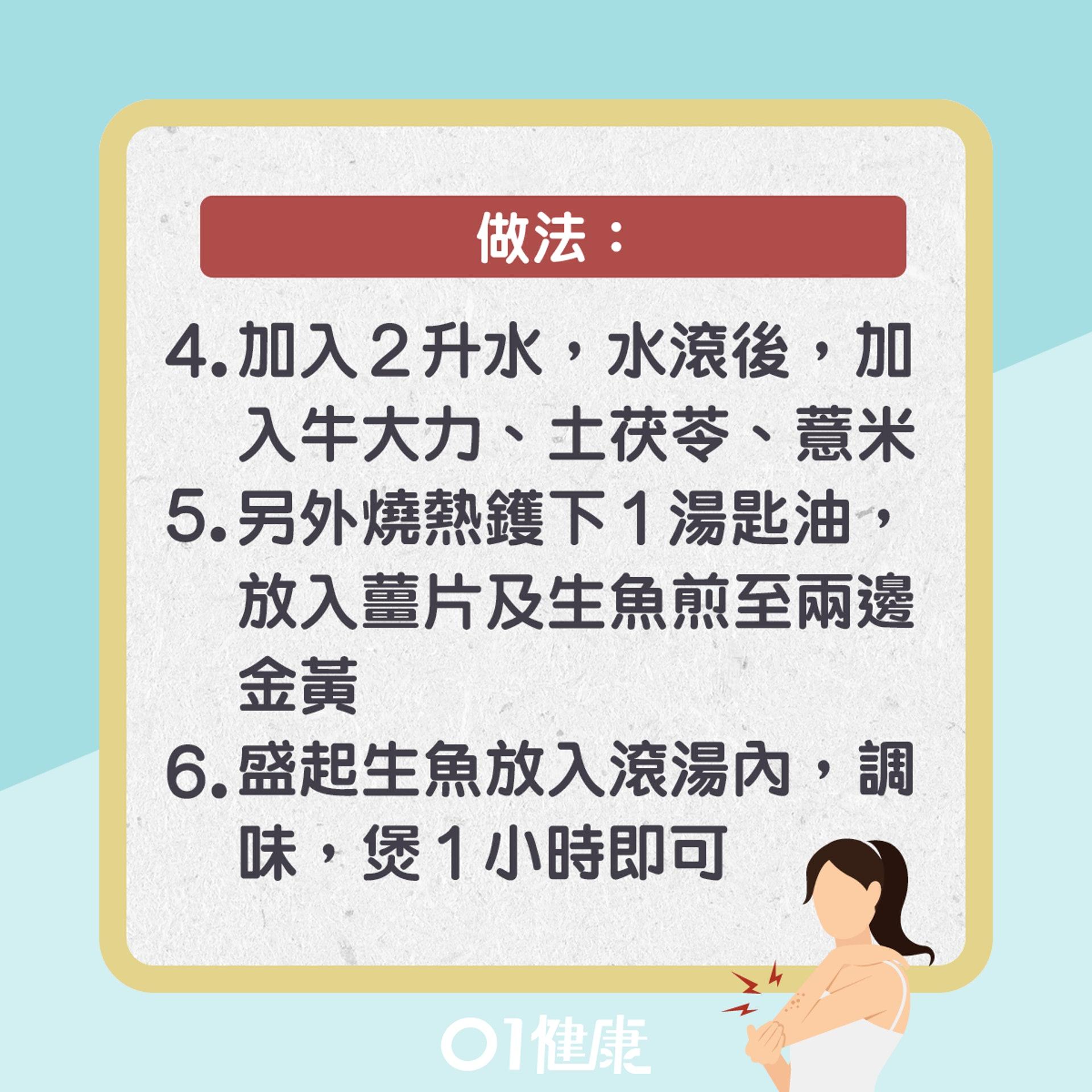 牛大力土茯苓煲生魚(01製圖)